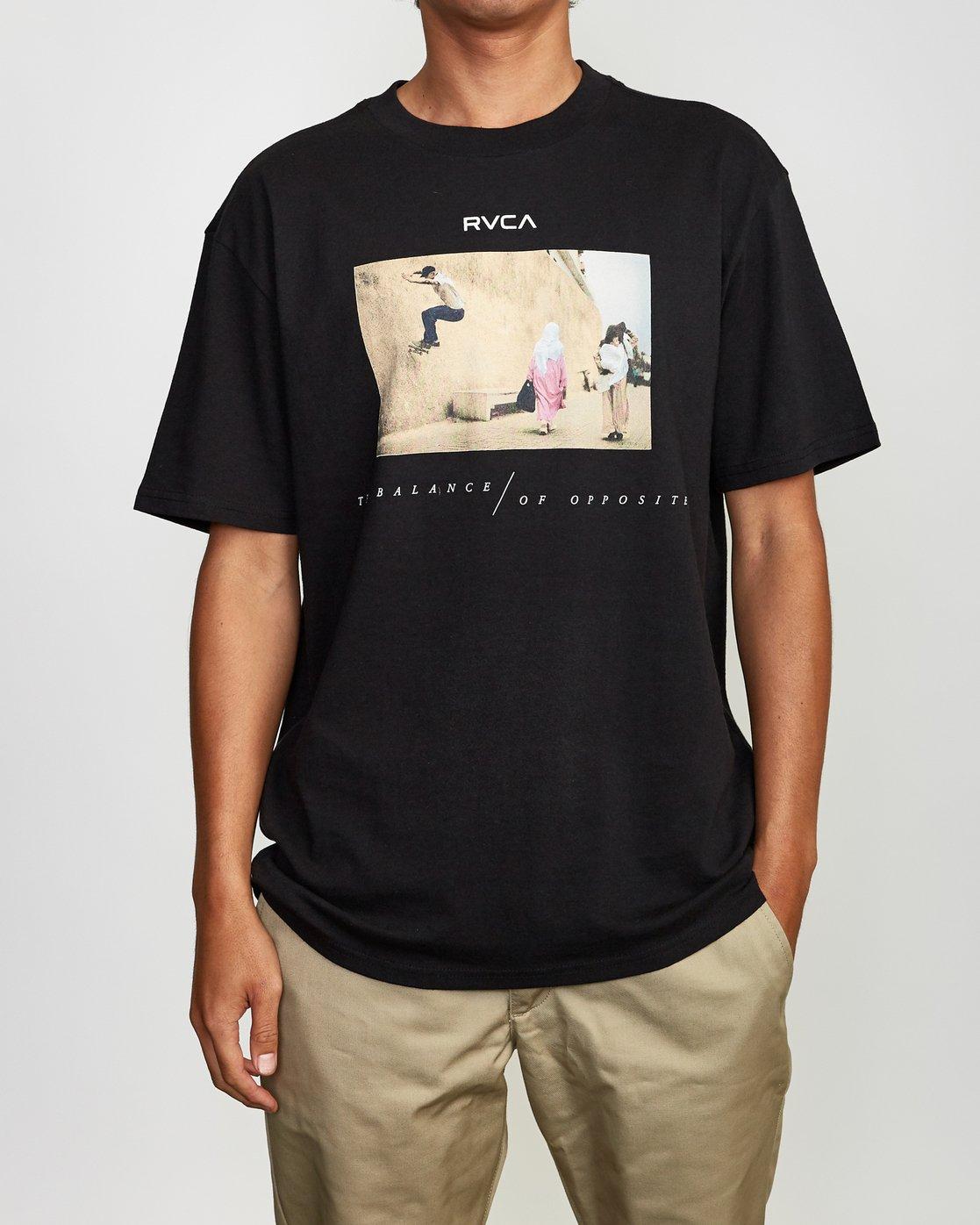 2 Balance Of Opposites Tokyo T-Shirt Black M410VRBO RVCA