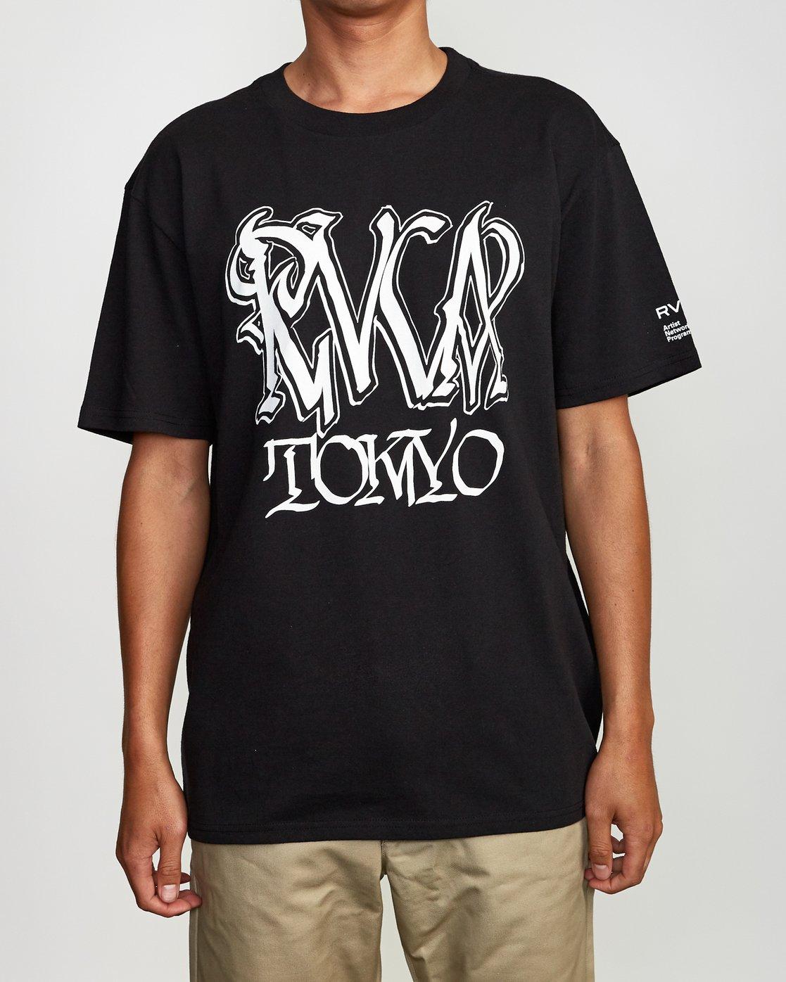 1 Defer Tokyo T-Shirt Black M410VRDT RVCA