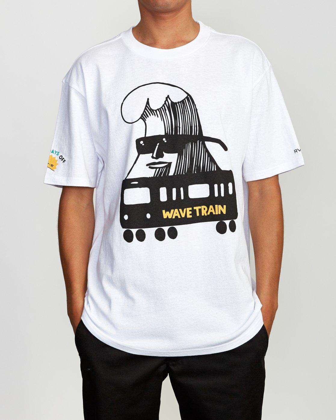 2 ESPO BL Tokyo T-Shirt White M410VRET RVCA