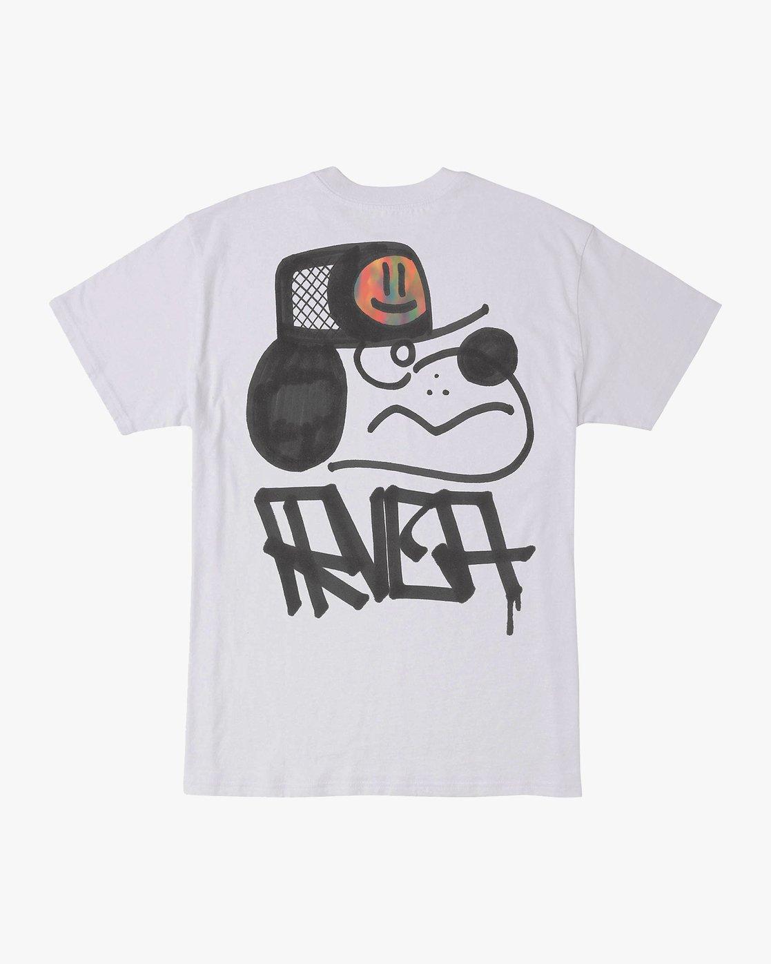 0 Remio Mix T-Shirt White M410VRRE RVCA