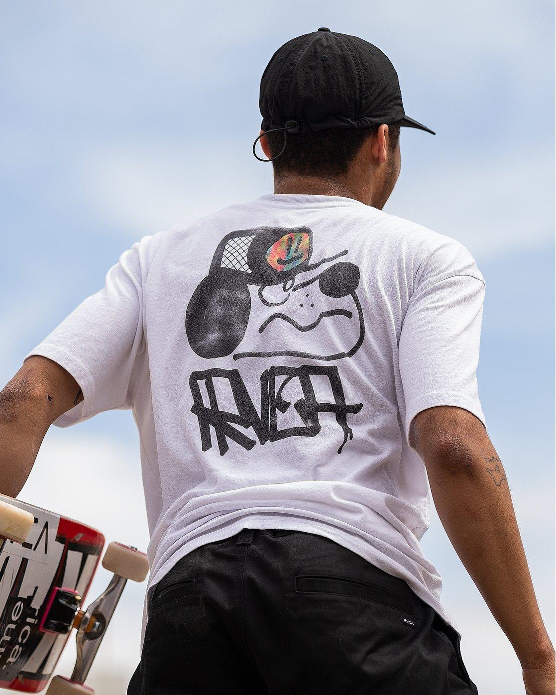 2 Remio Mix T-Shirt White M410VRRE RVCA
