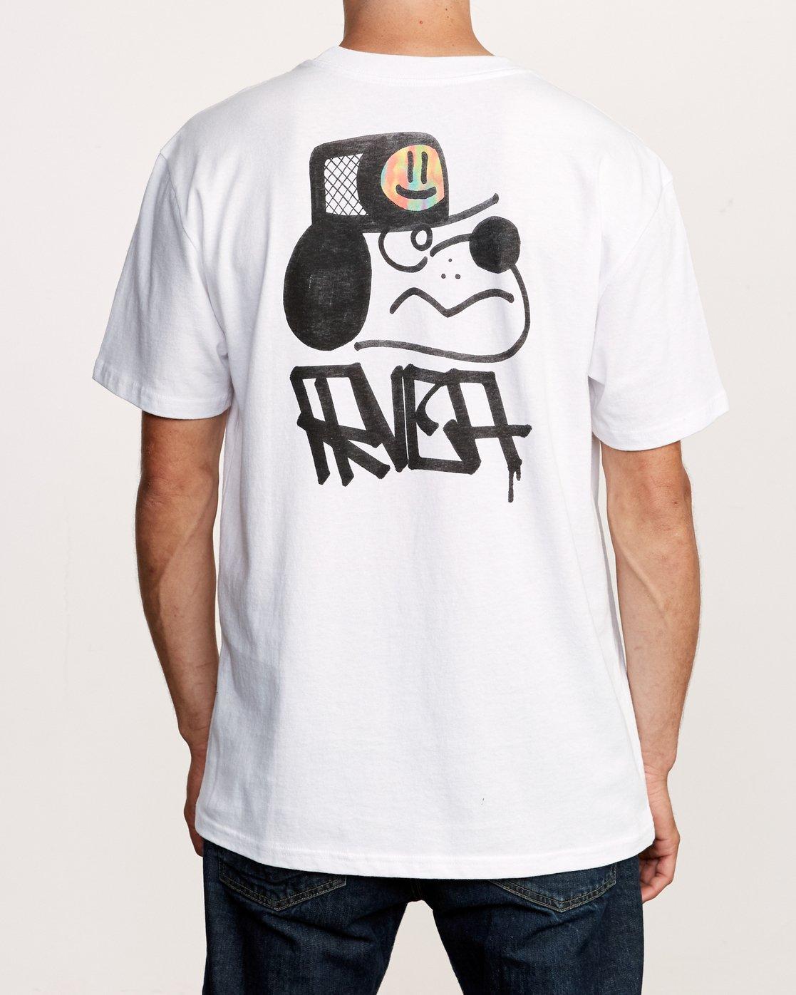 5 Remio Mix T-Shirt White M410VRRE RVCA