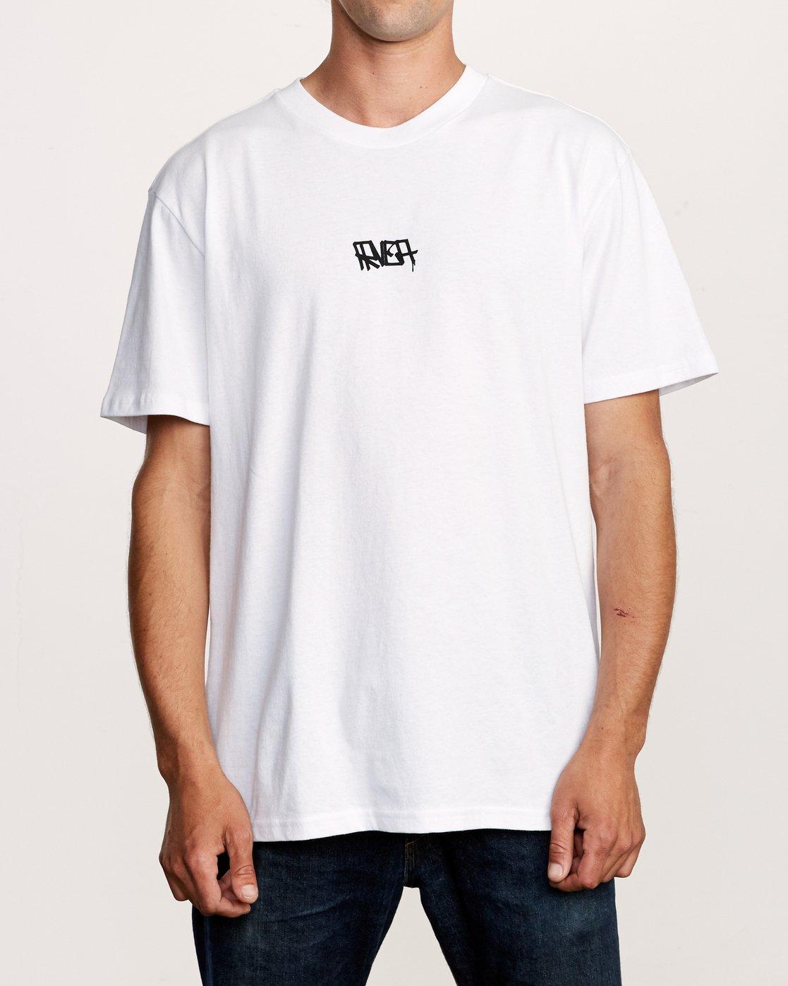 3 Remio Mix T-Shirt White M410VRRE RVCA