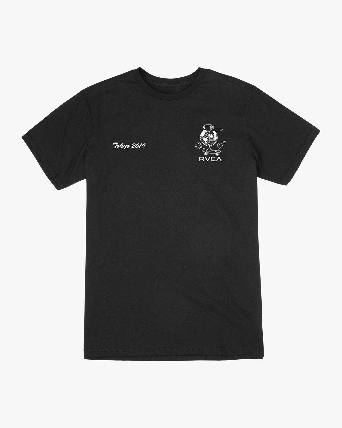 1 RVCA Shibuya T-Shirt Black M410VRRS RVCA