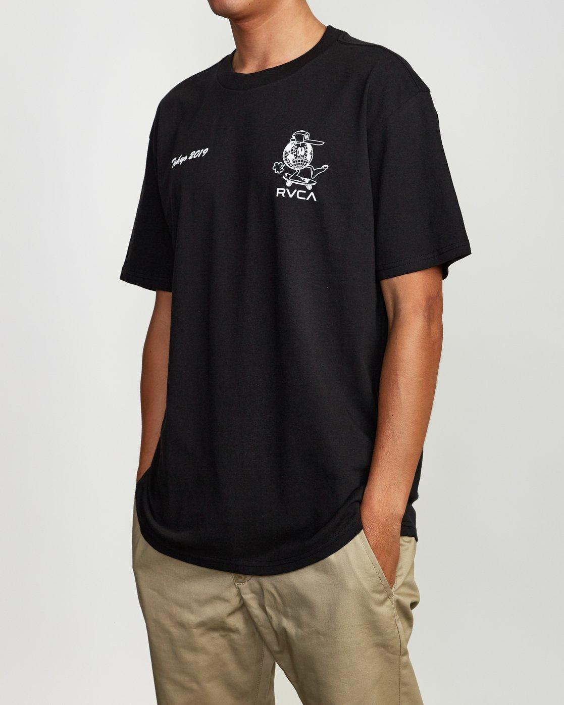 3 RVCA Shibuya T-Shirt Black M410VRRS RVCA