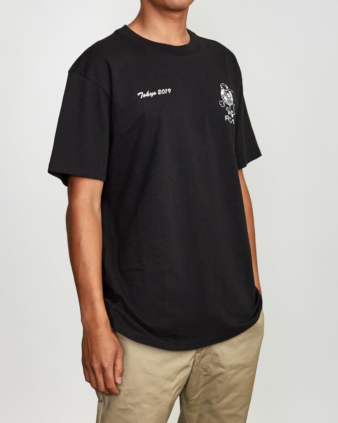 4 RVCA Shibuya T-Shirt Black M410VRRS RVCA
