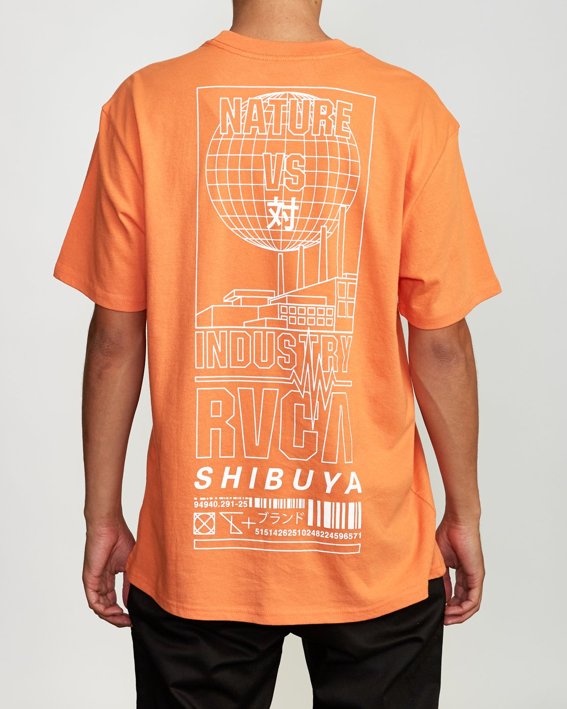 4 Super Shibuya T-Shirt Orange M410VRSS RVCA