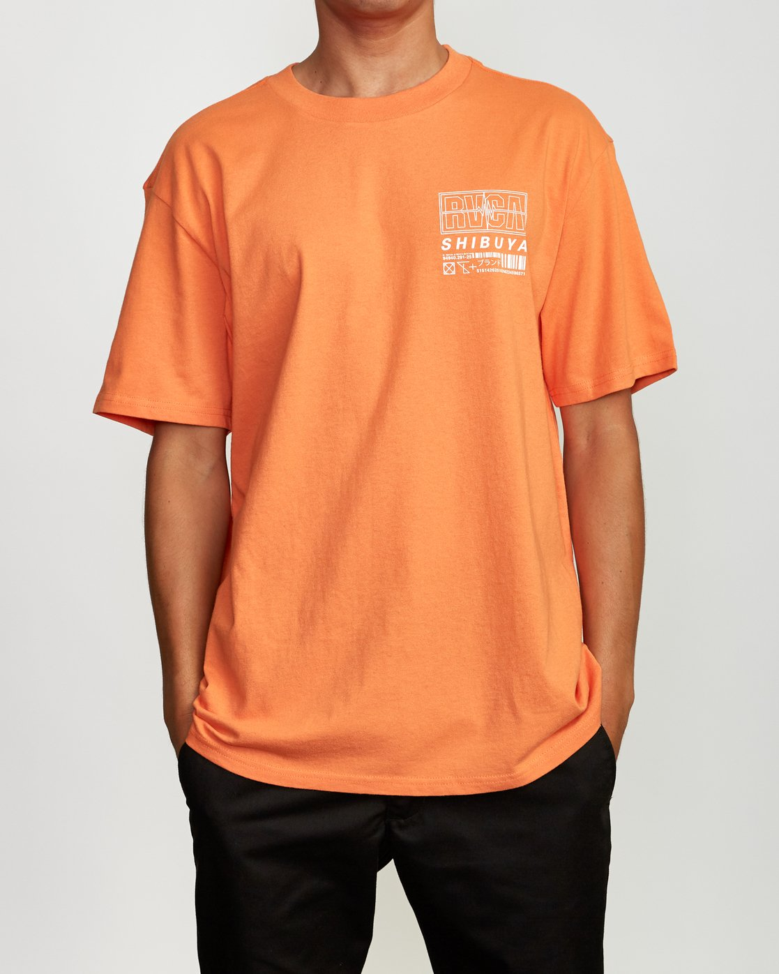 2 Super Shibuya T-Shirt Orange M410VRSS RVCA