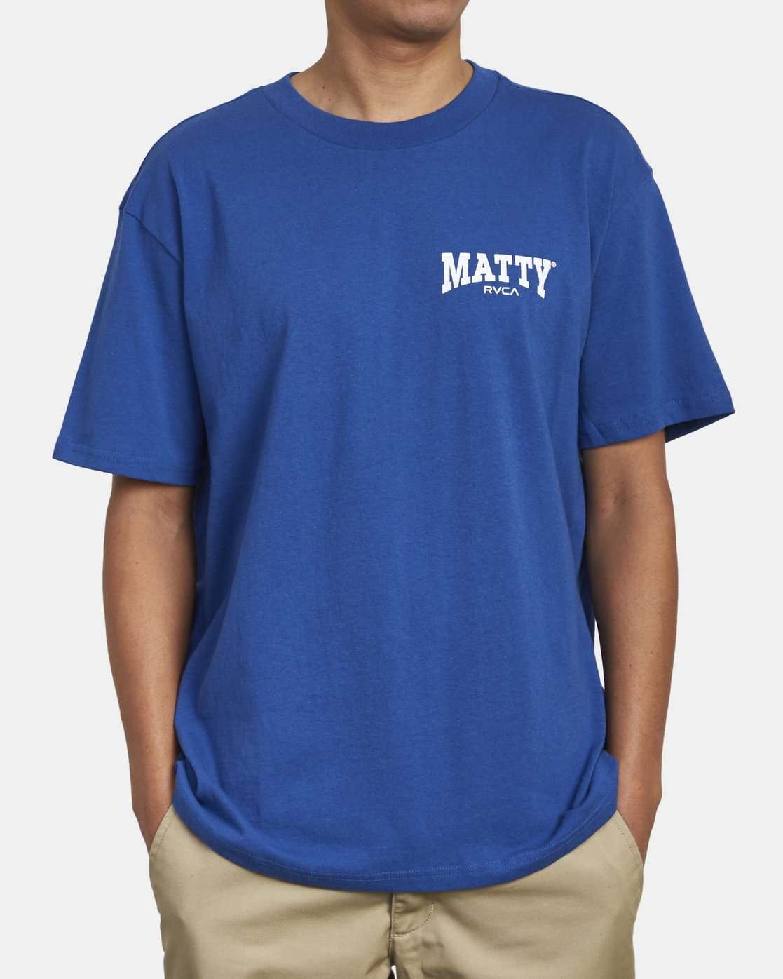 2 MATTY'S T-SHIRT Blue M410WRGM RVCA