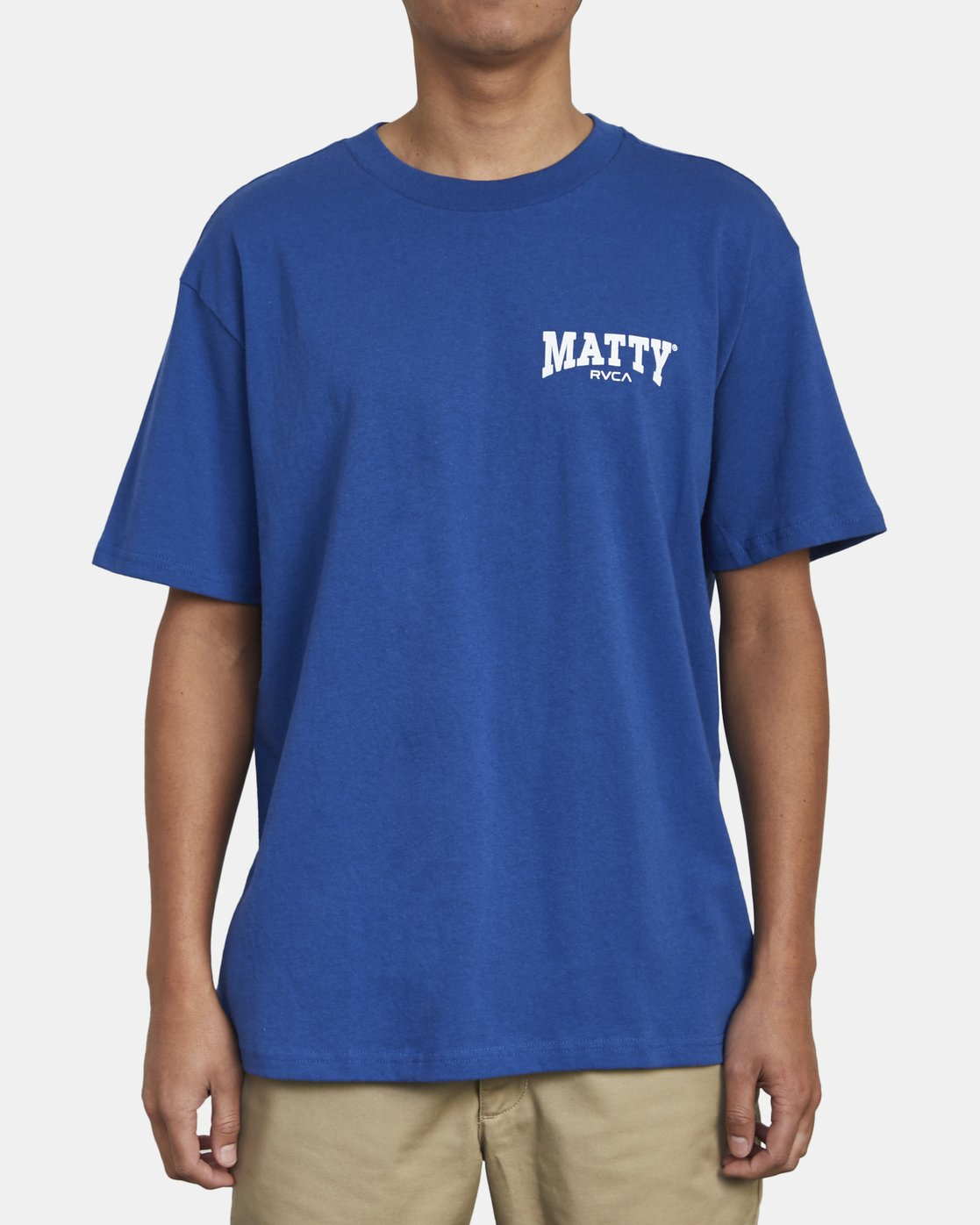 3 MATTY'S T-SHIRT Blue M410WRGM RVCA