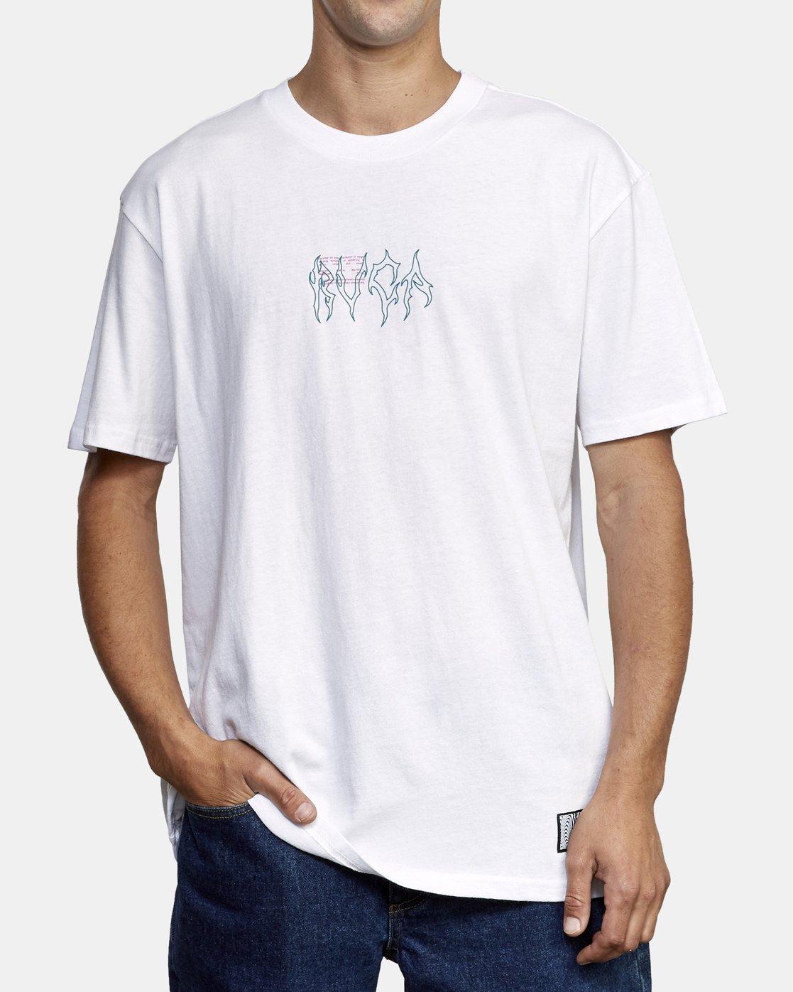 3 Infrared T-Shirt White M410WRIN RVCA