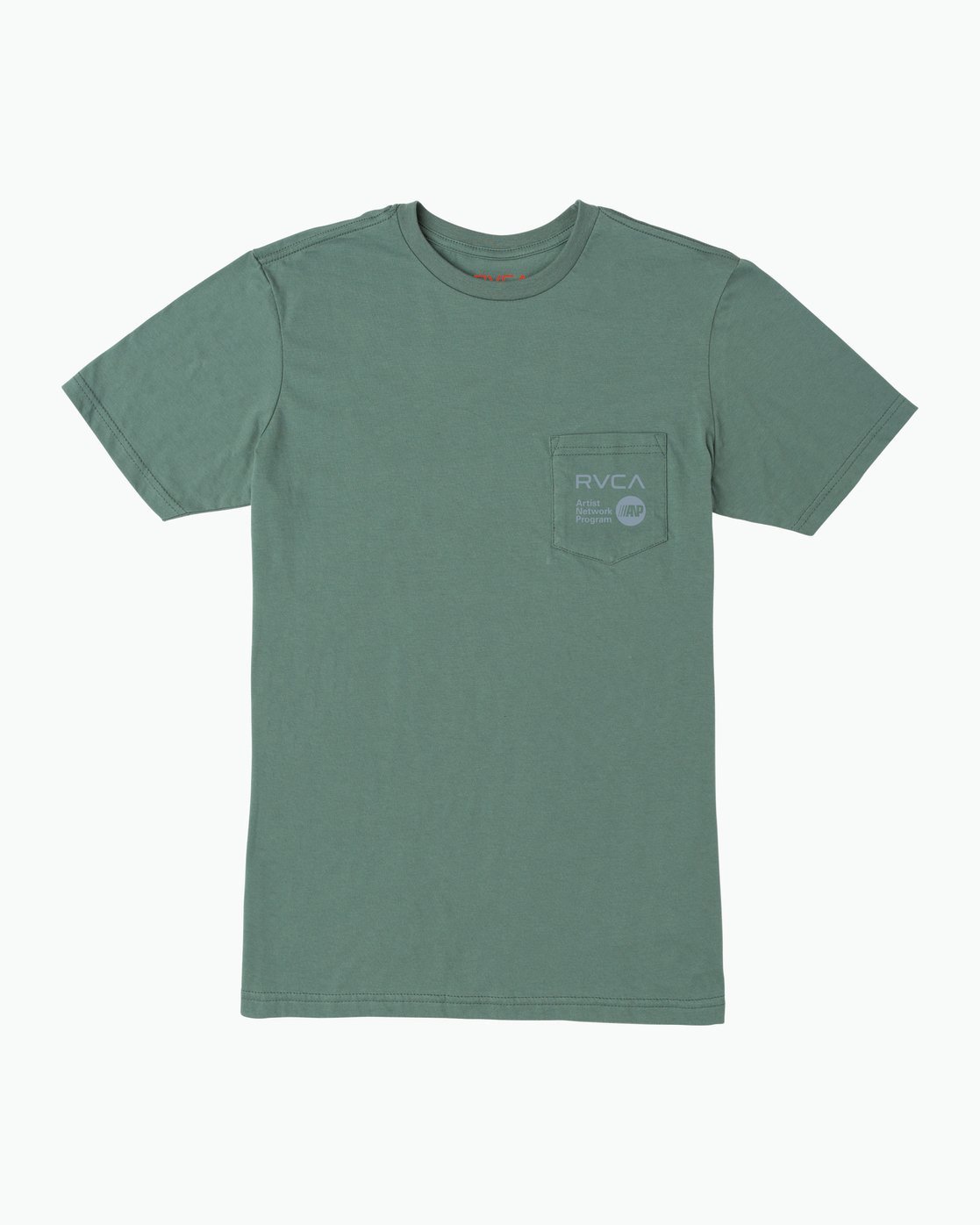 0 ANP Pocket T-Shirt Green M412SRAN RVCA
