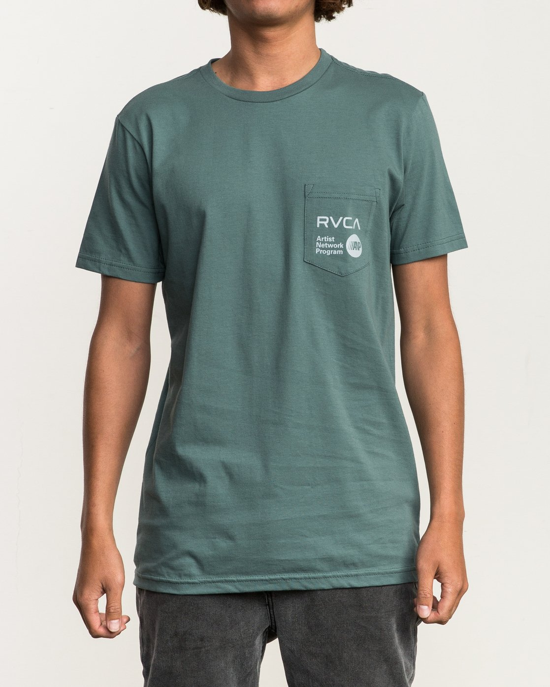 1 ANP Pocket T-Shirt Green M412SRAN RVCA