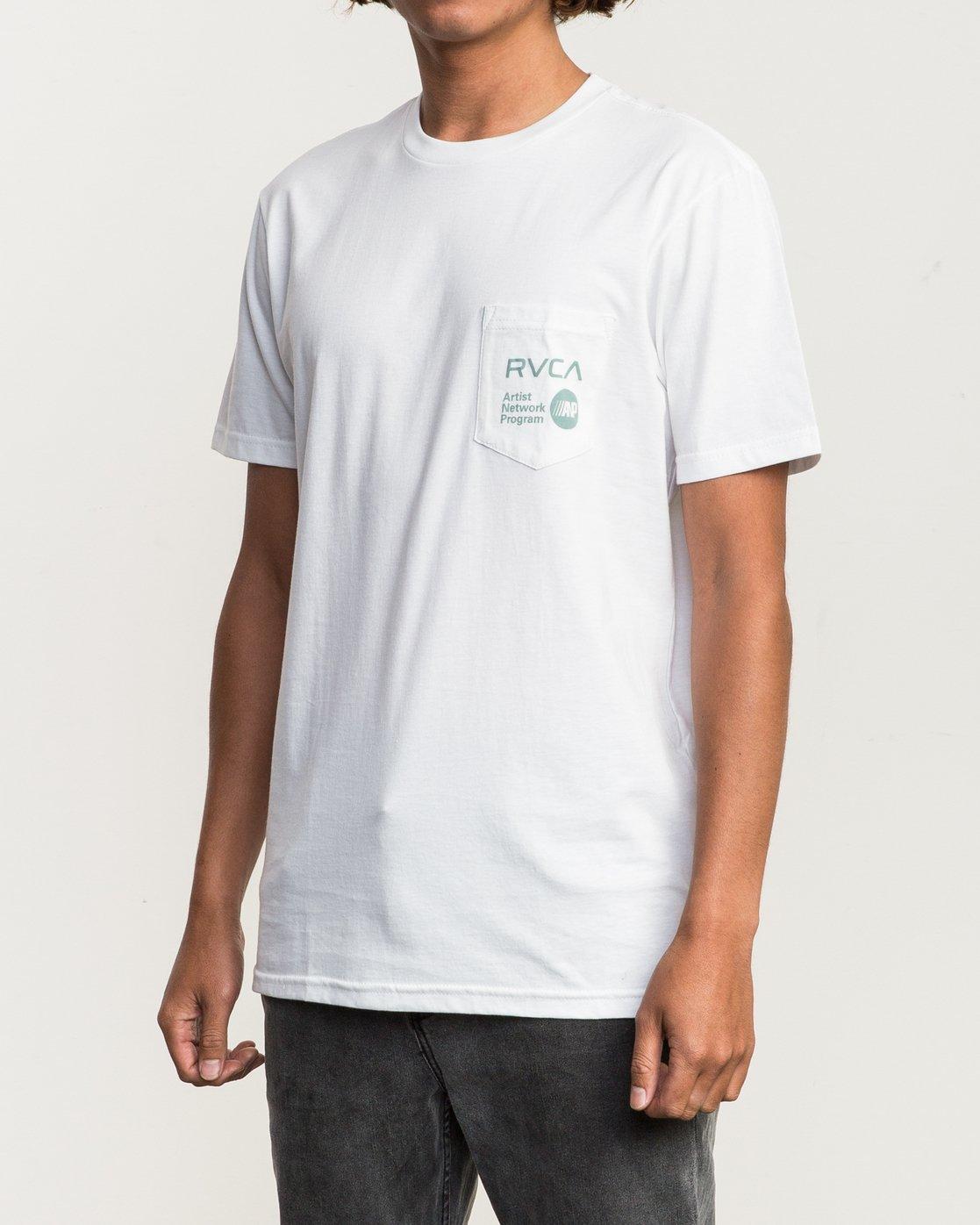 2 ANP Pocket T-Shirt White M412SRAN RVCA