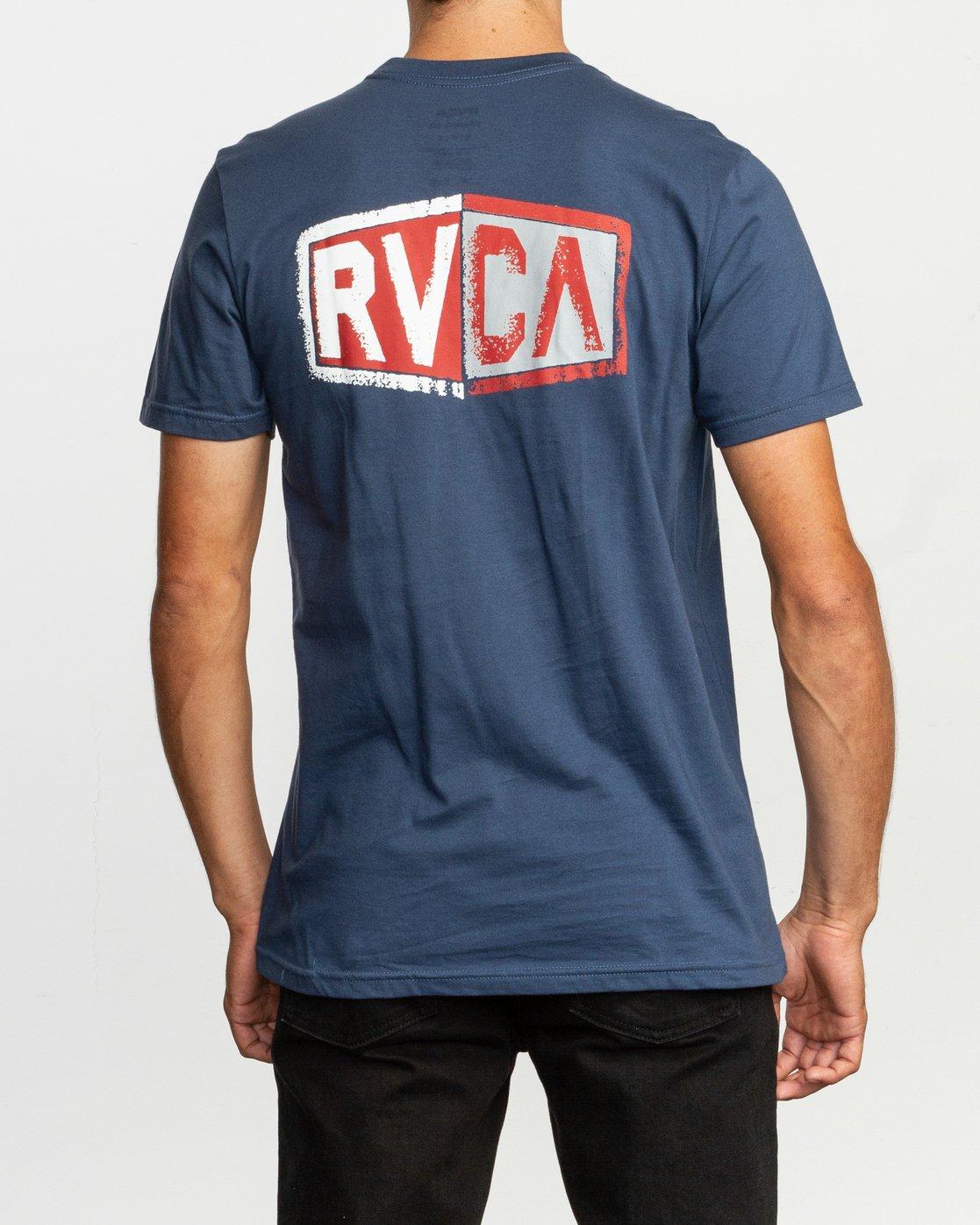 4 Carborator T-Shirt Blue M412TRCA RVCA