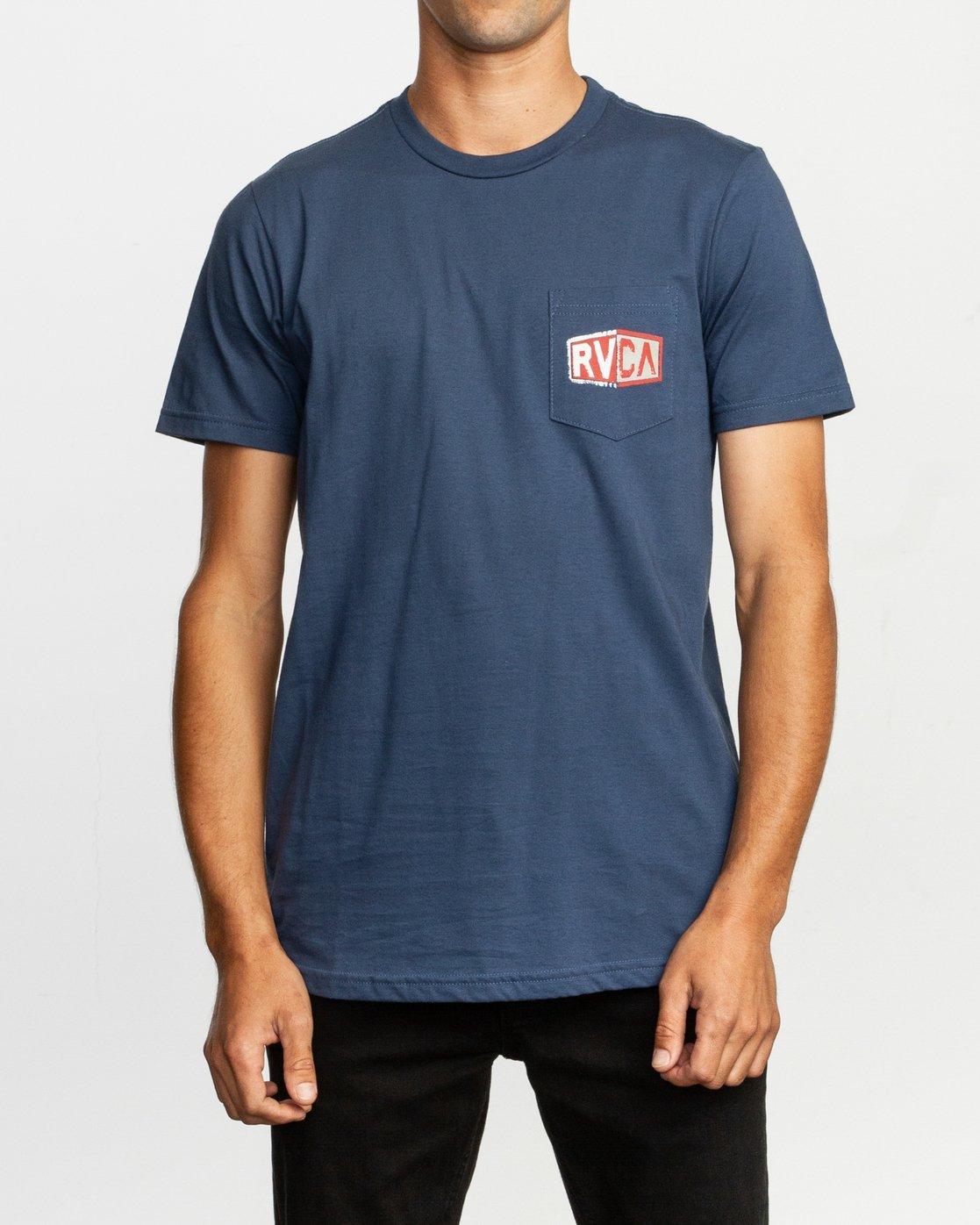 2 Carborator T-Shirt Blue M412TRCA RVCA