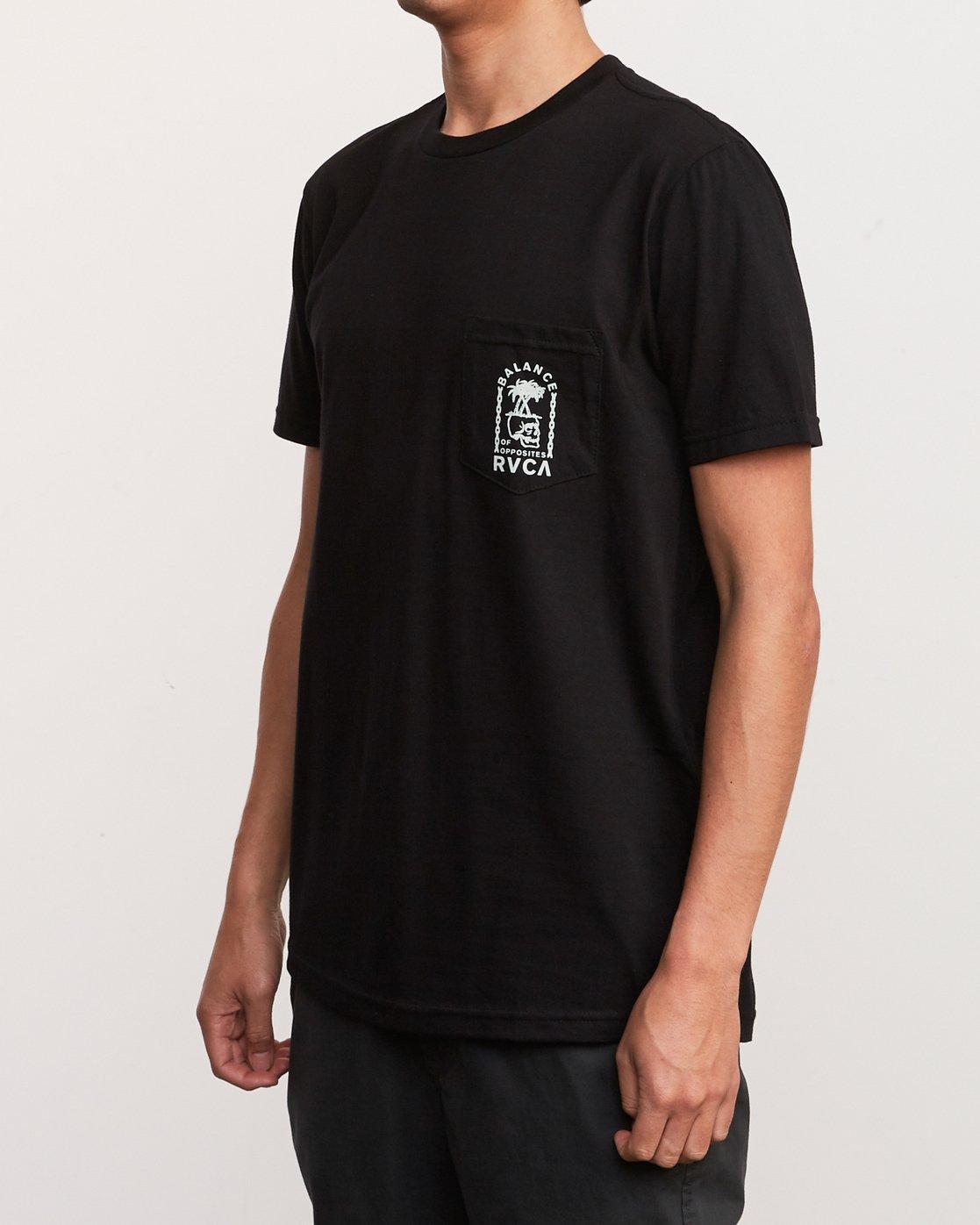 3 Bad Palms T-Shirt Black M412URBA RVCA