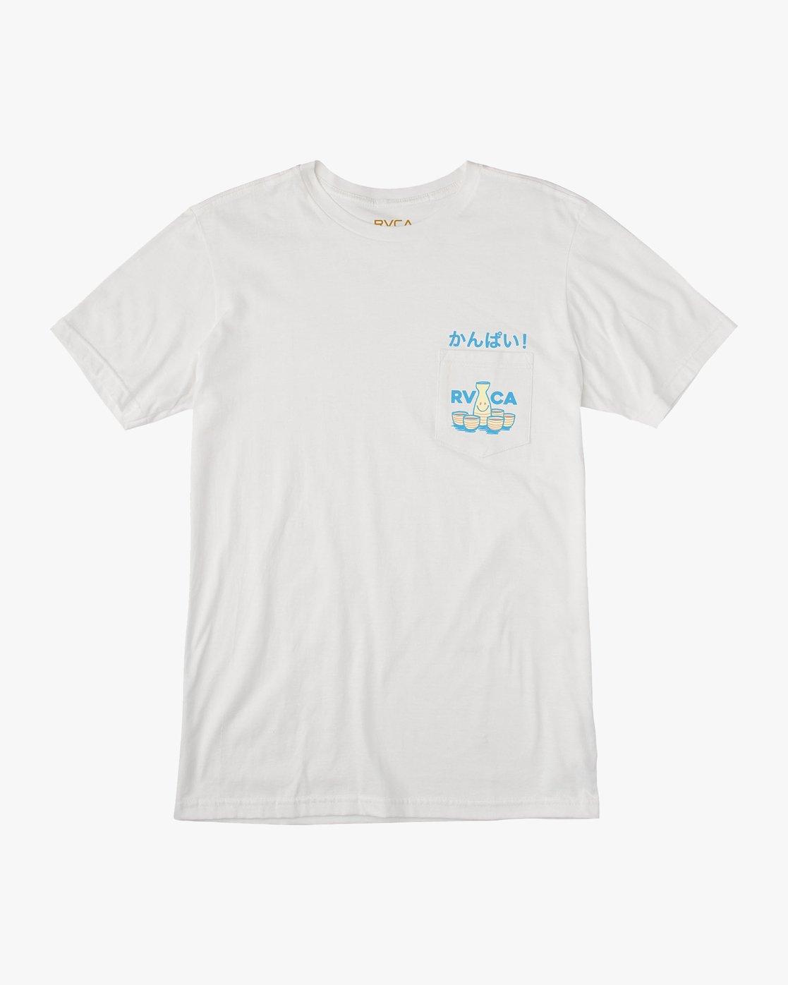1 Kampai T-Shirt White M412URKA RVCA