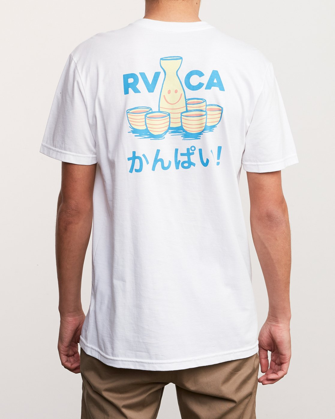 4 Kampai T-Shirt White M412URKA RVCA