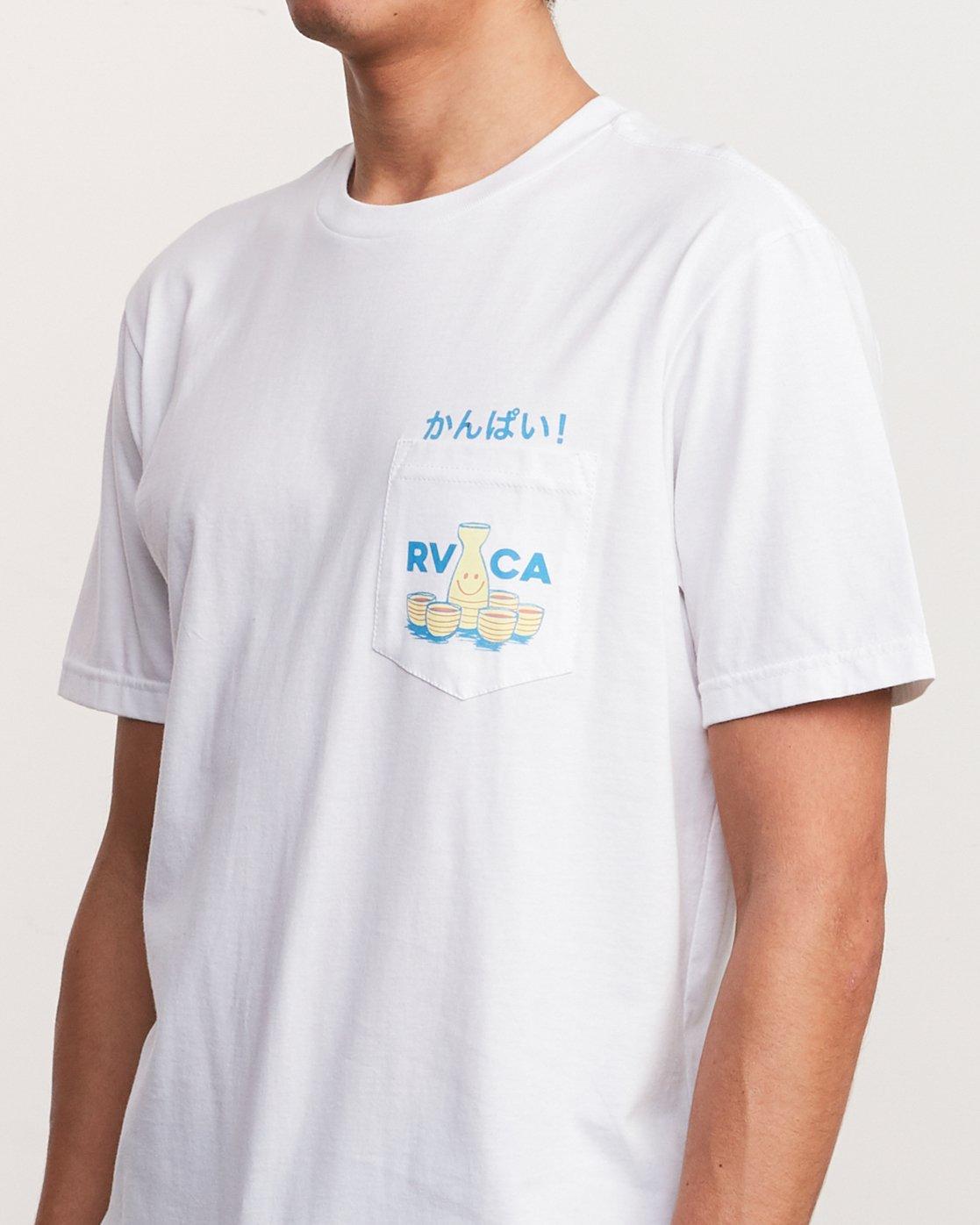 5 Kampai T-Shirt White M412URKA RVCA