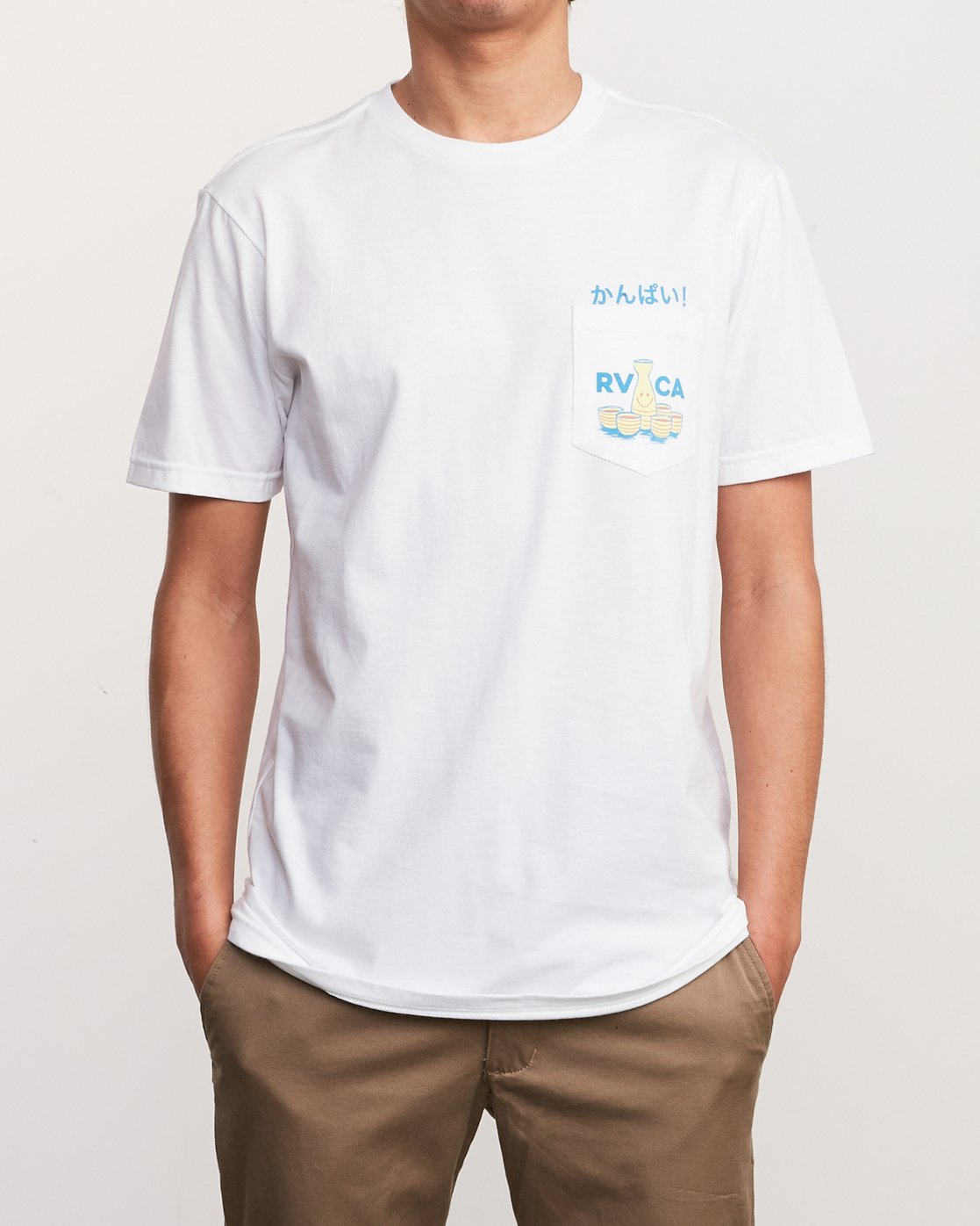 2 Kampai T-Shirt White M412URKA RVCA