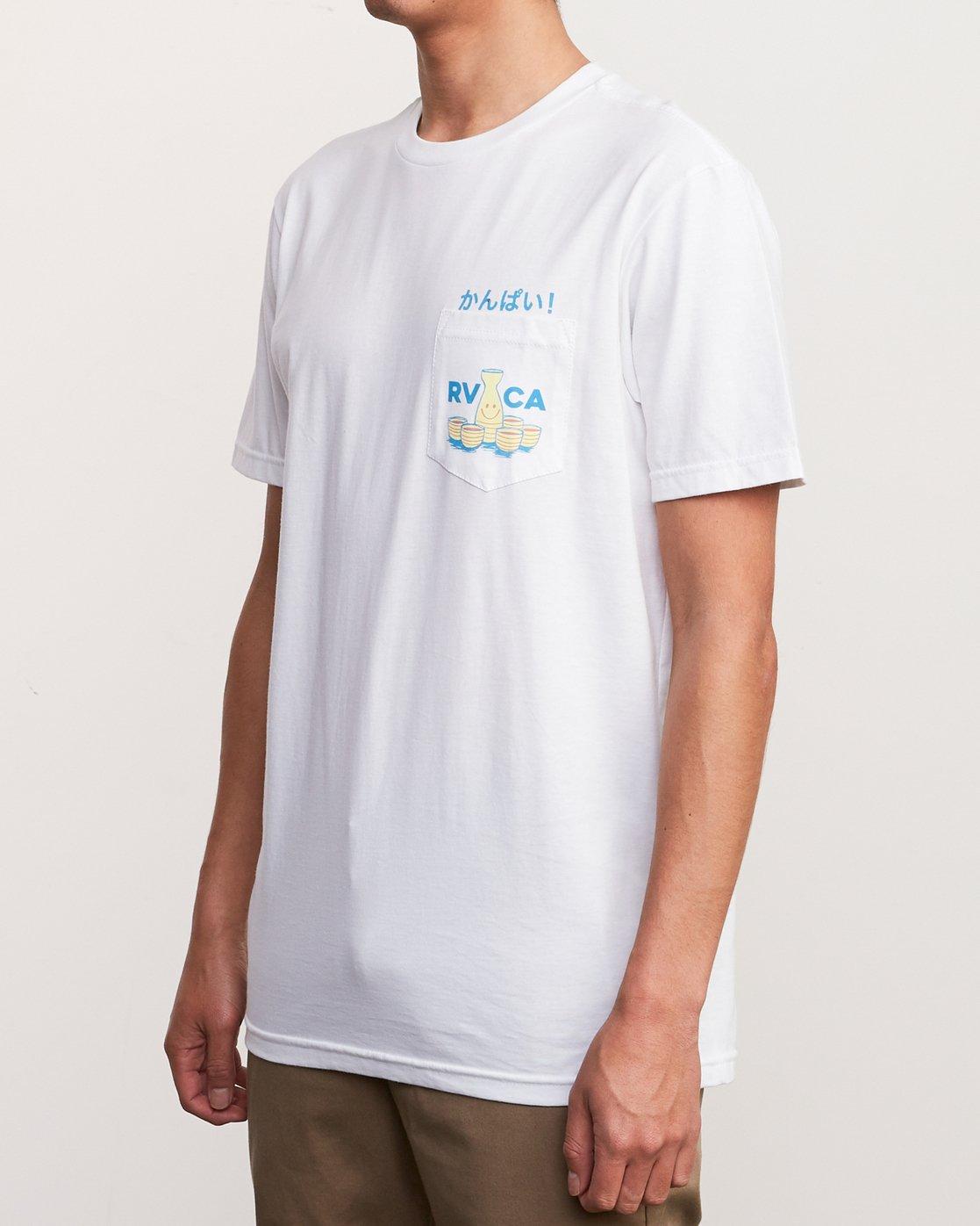 3 Kampai T-Shirt White M412URKA RVCA