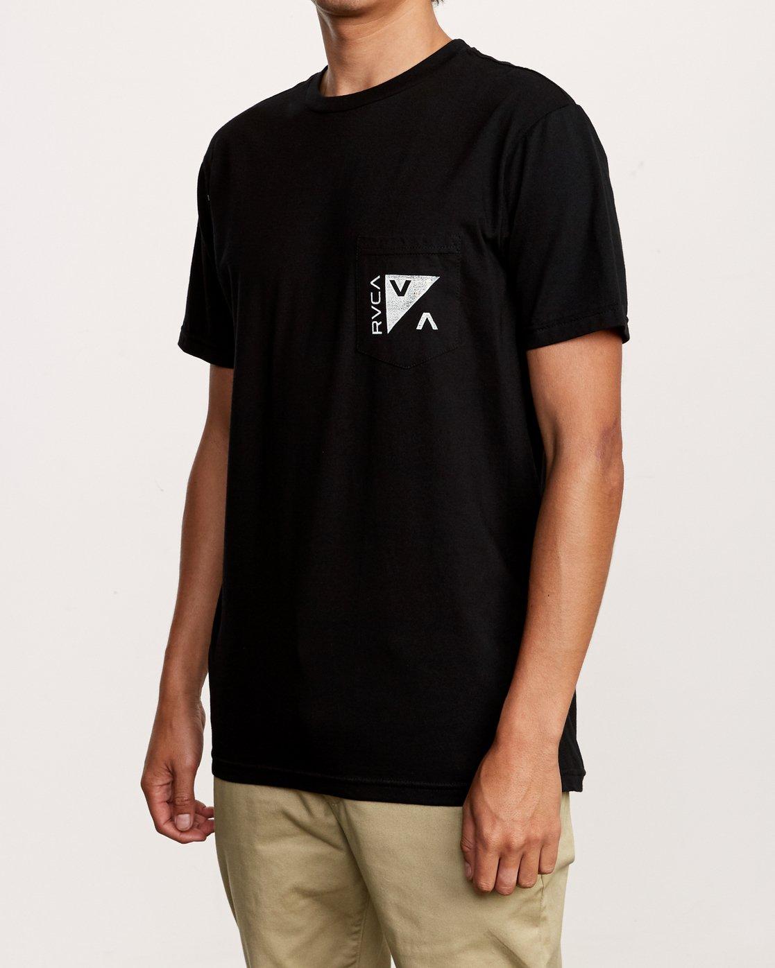 3 Check Mate Pocket T-Shirt Black M412VRCH RVCA