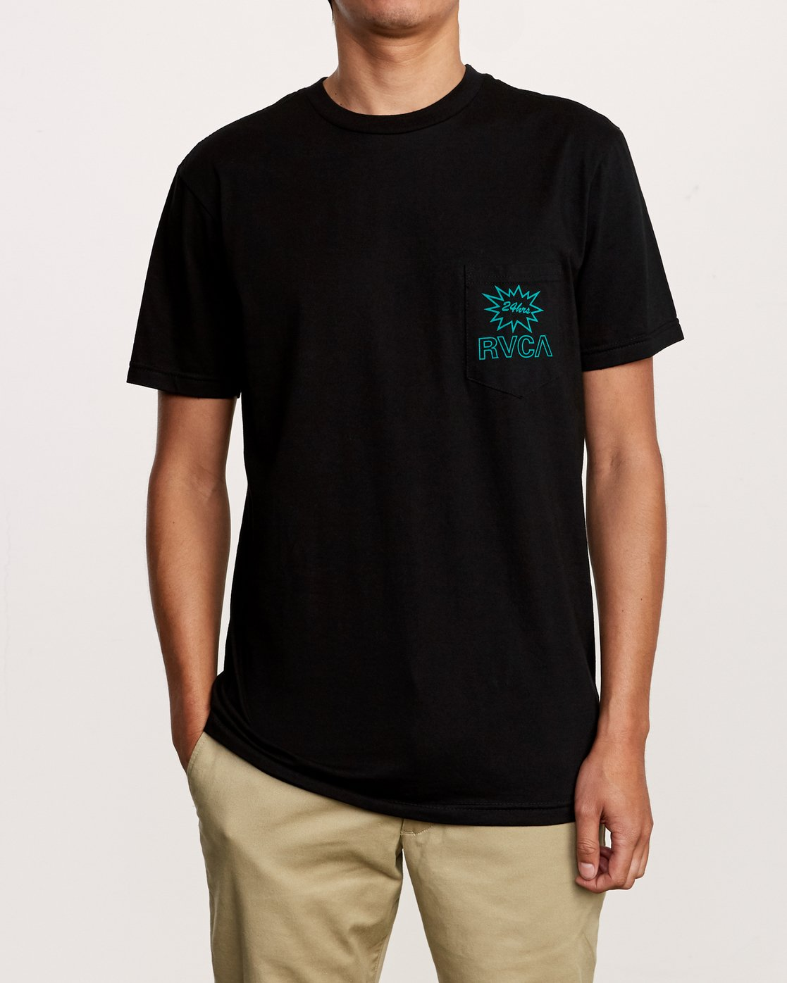 2 Pest Control Pocket T-Shirt Black M412VRPC RVCA