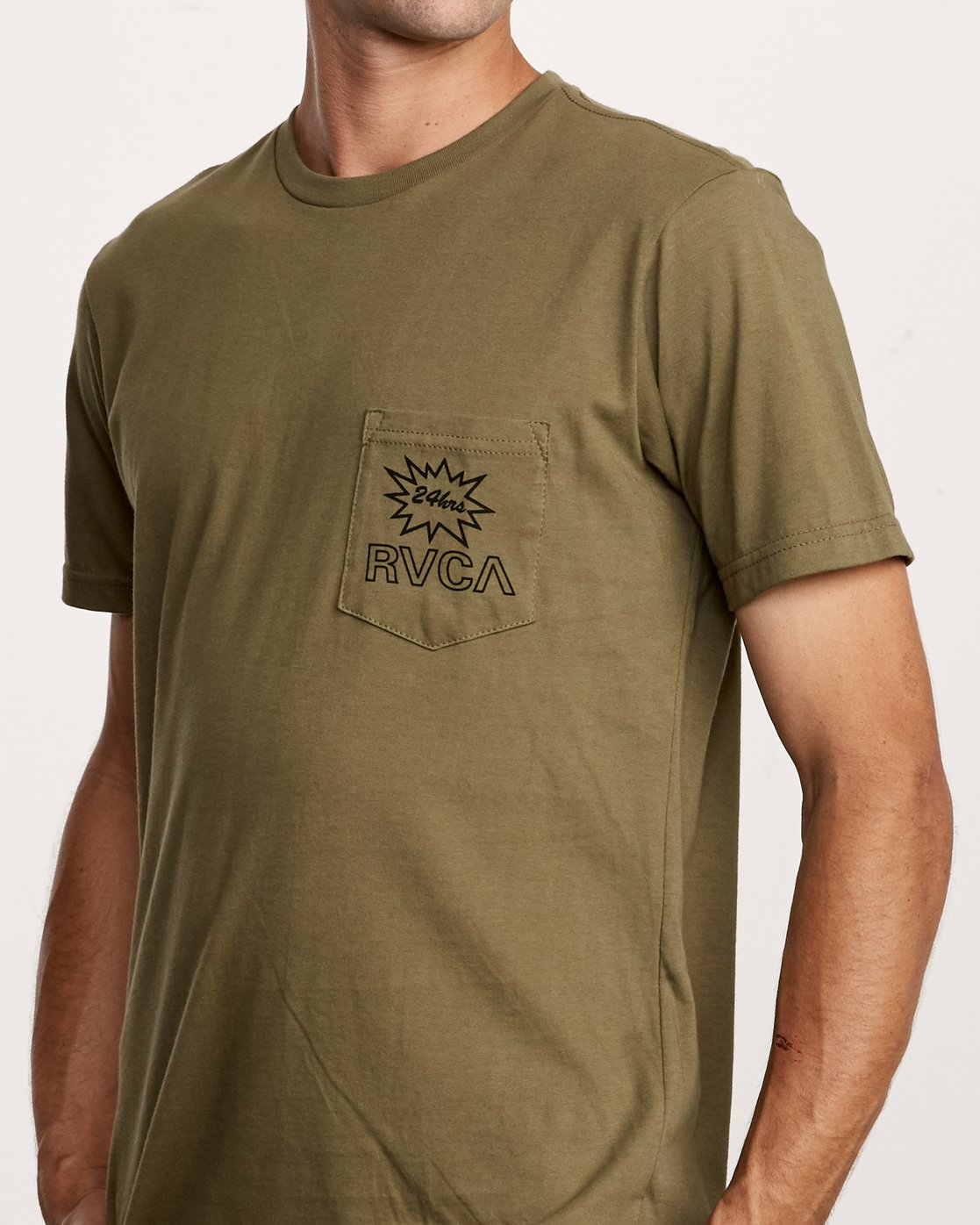 5 Pest Control Pocket T-Shirt Green M412VRPC RVCA