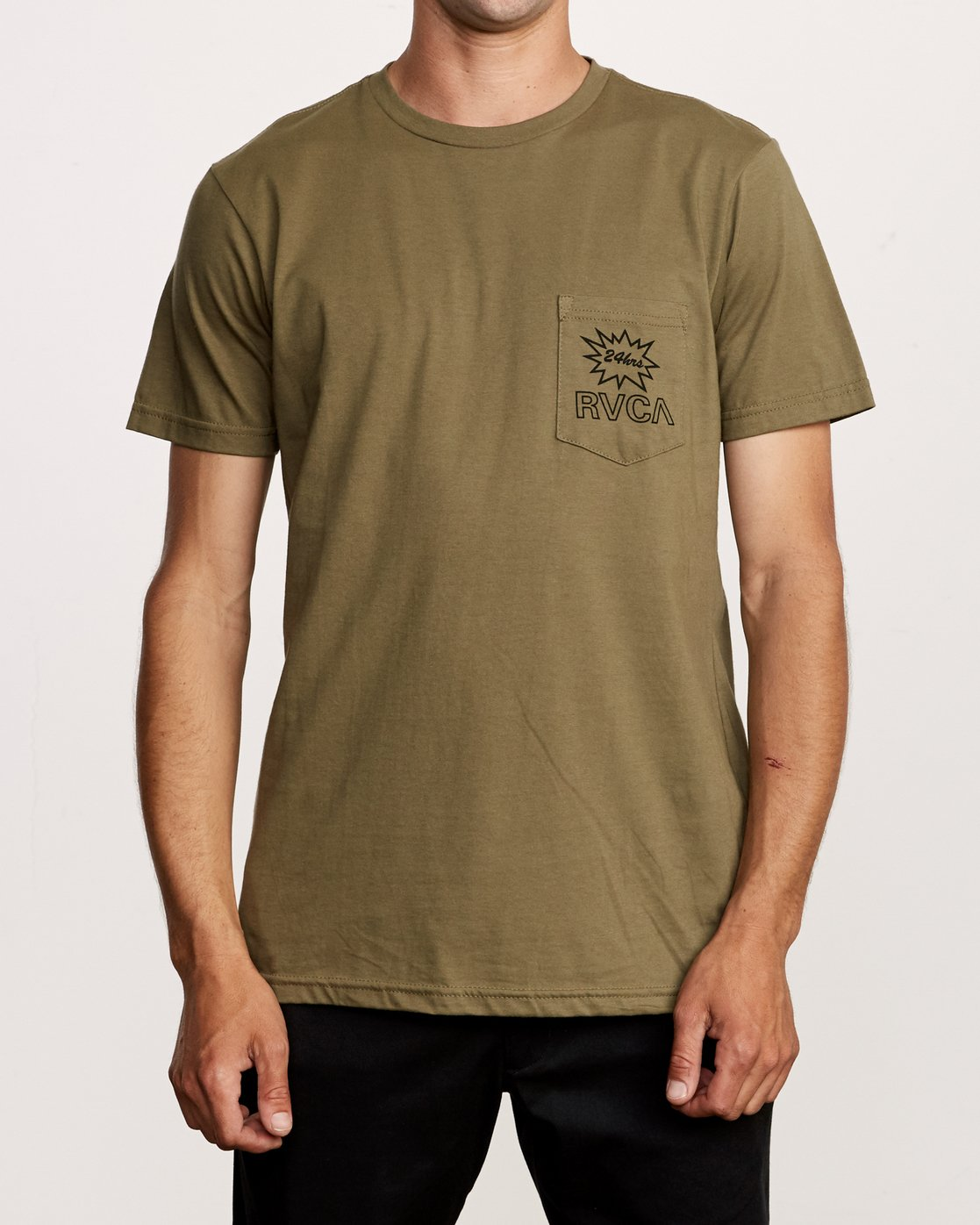 2 Pest Control Pocket T-Shirt Green M412VRPC RVCA