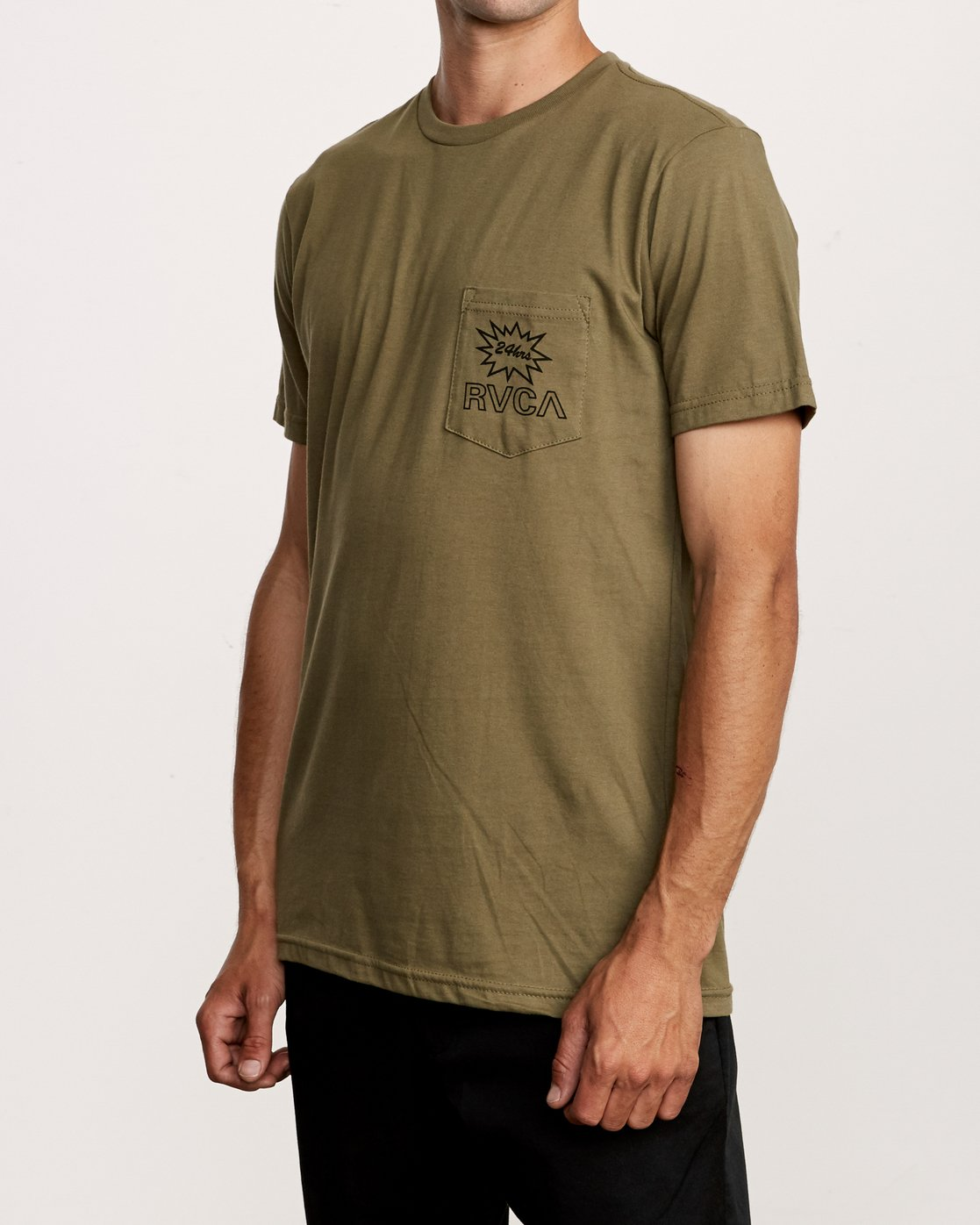 3 Pest Control Pocket T-Shirt Green M412VRPC RVCA