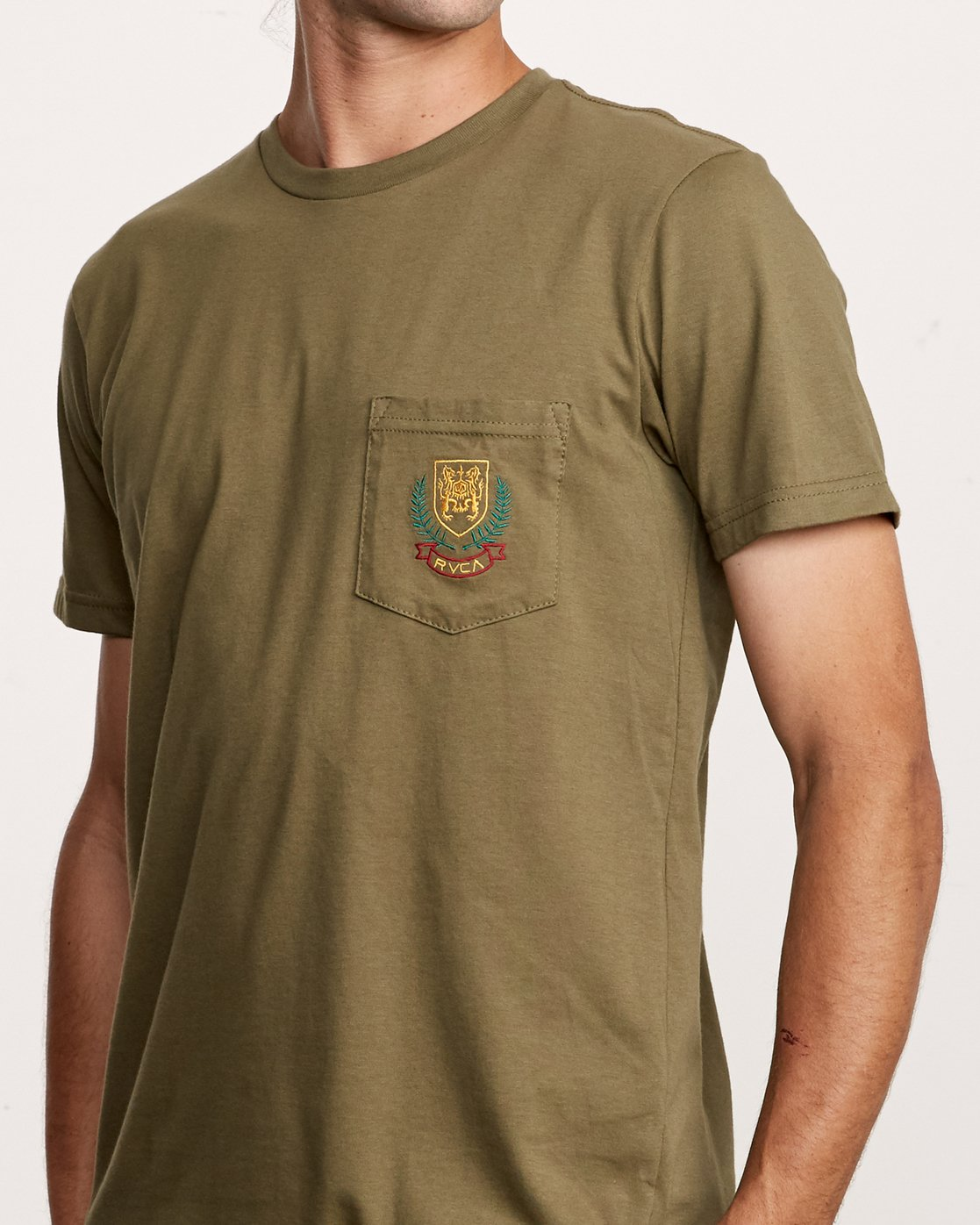 4 Royale Pocket T-Shirt Green M412VRRO RVCA
