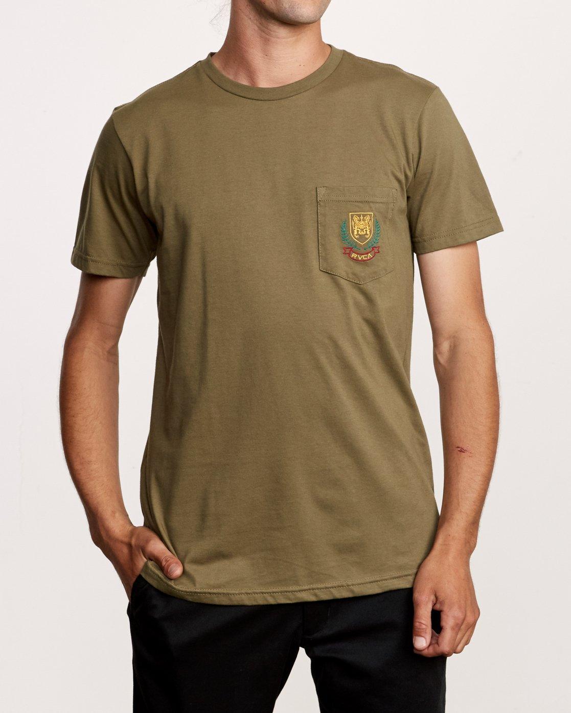 1 Royale Pocket TEE Green M412VRRO RVCA