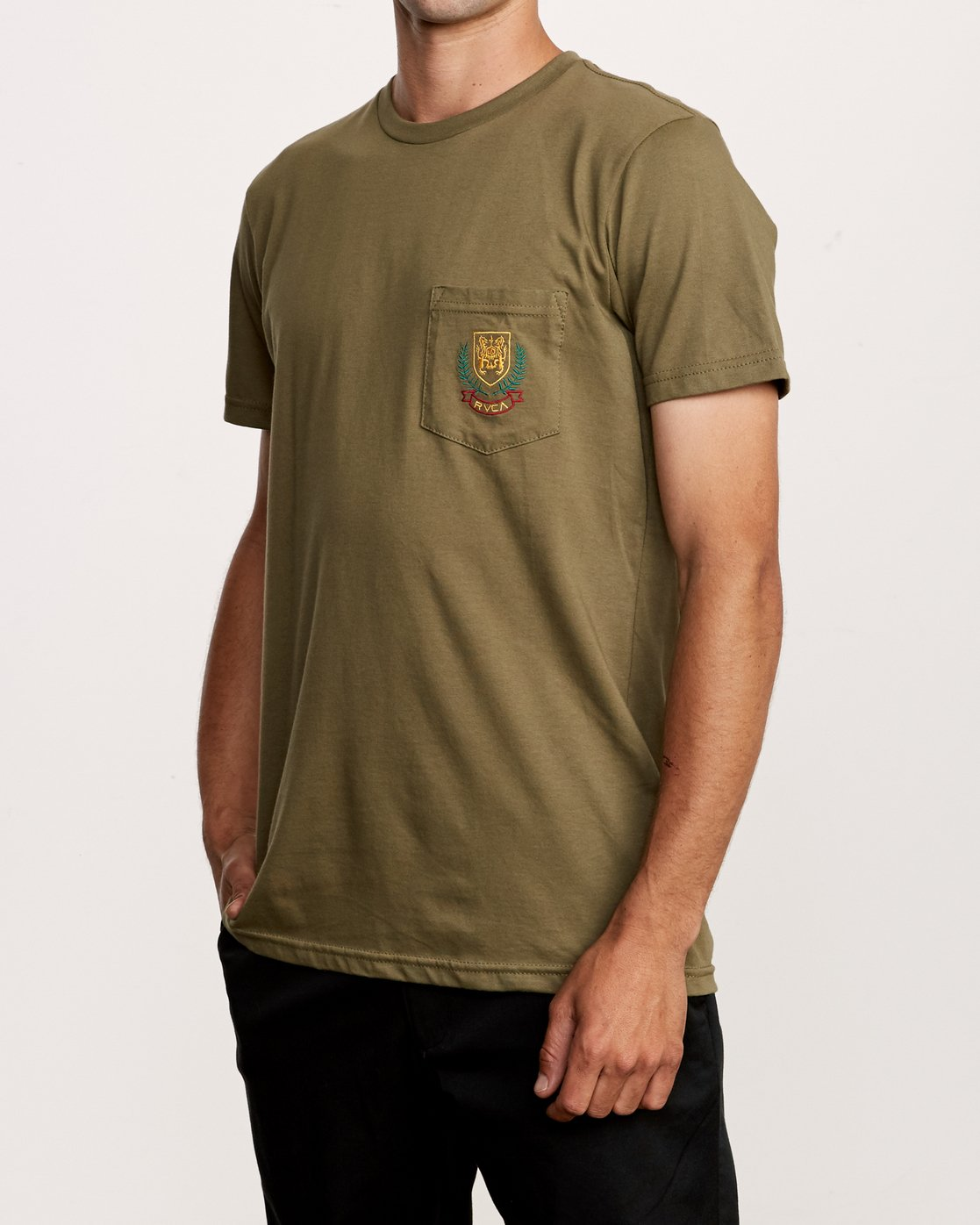2 Royale Pocket T-Shirt Green M412VRRO RVCA