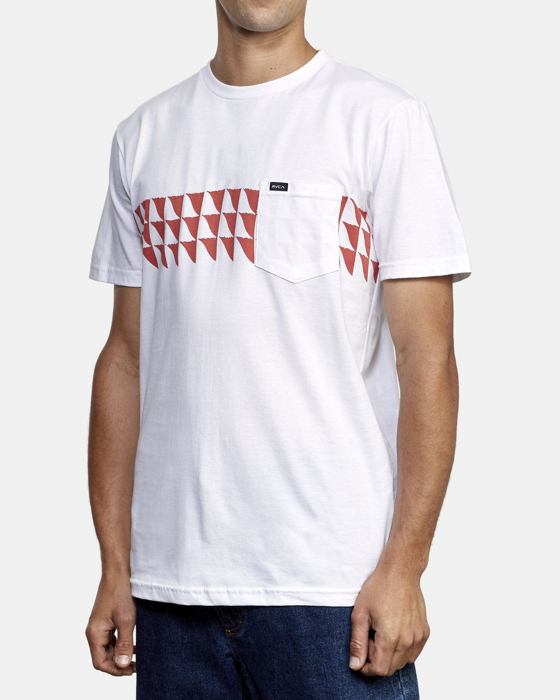 2 Cross Fade T-Shirt White M412WRCF RVCA