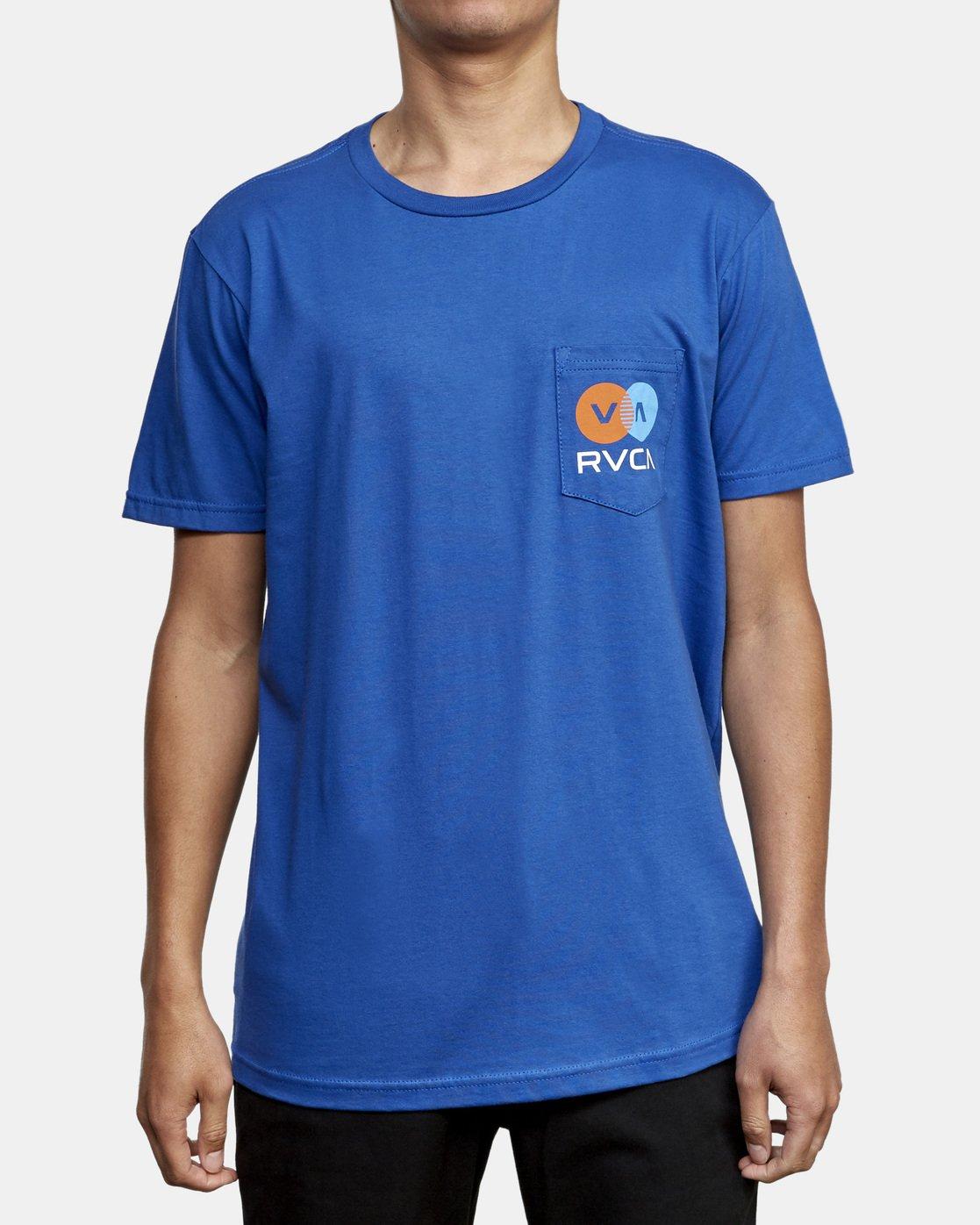 2 TV Corpo T-Shirt Blue M412WRTV RVCA