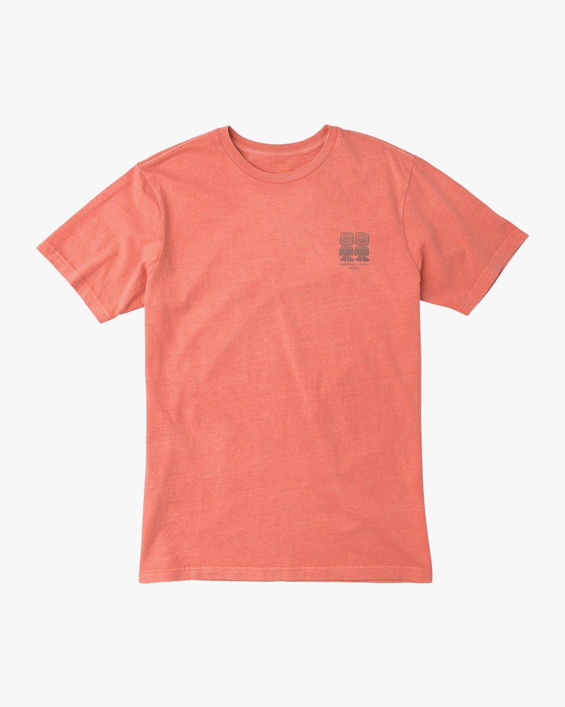 1 Campbell Bros T-Shirt Pink M413QRCA RVCA