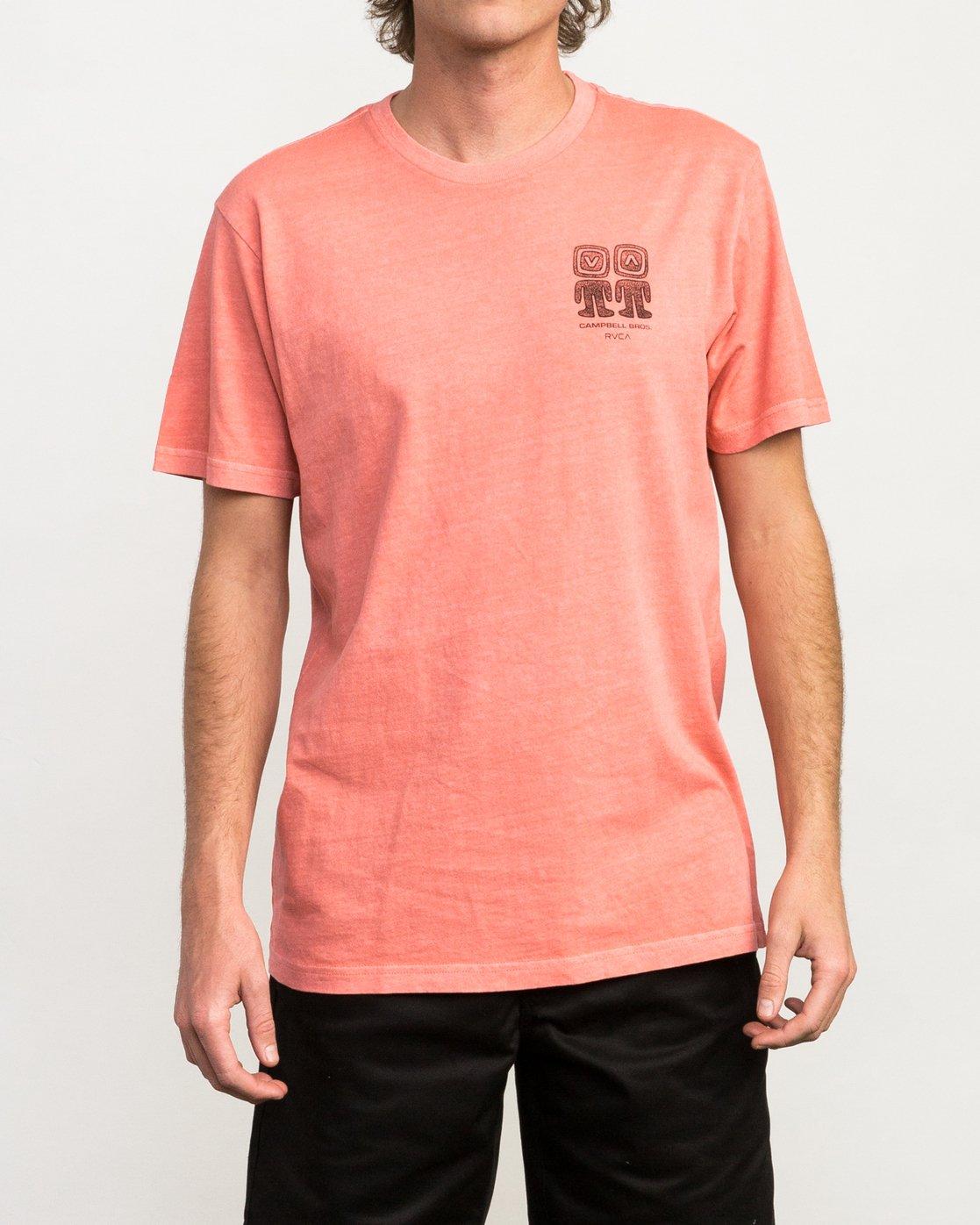2 Campbell Bros T-Shirt Pink M413QRCA RVCA