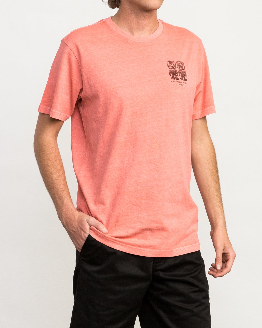 3 Campbell Bros T-Shirt Pink M413QRCA RVCA