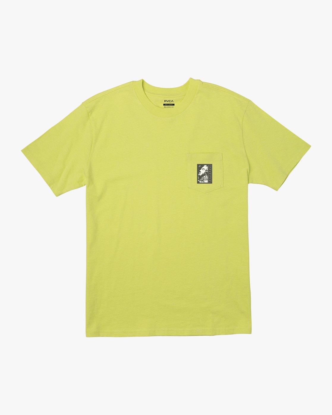 2 MONOLITH TEE Yellow M4141RMO RVCA