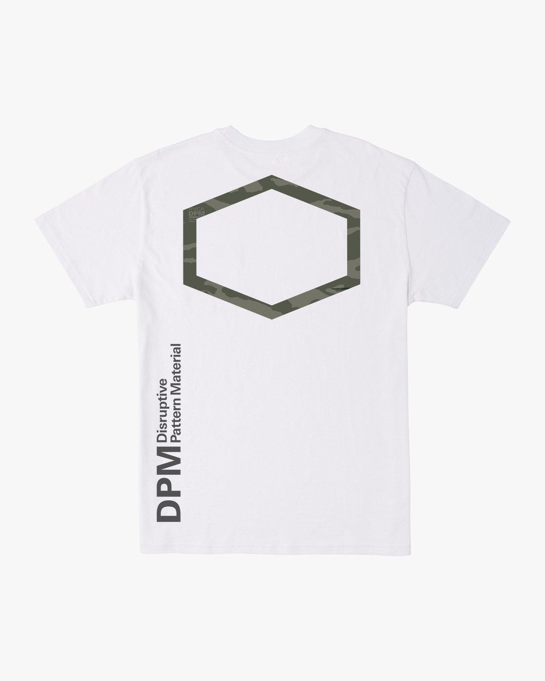 3 DPM Short Sleeve Pocket T-Shirt White M4143RDP RVCA