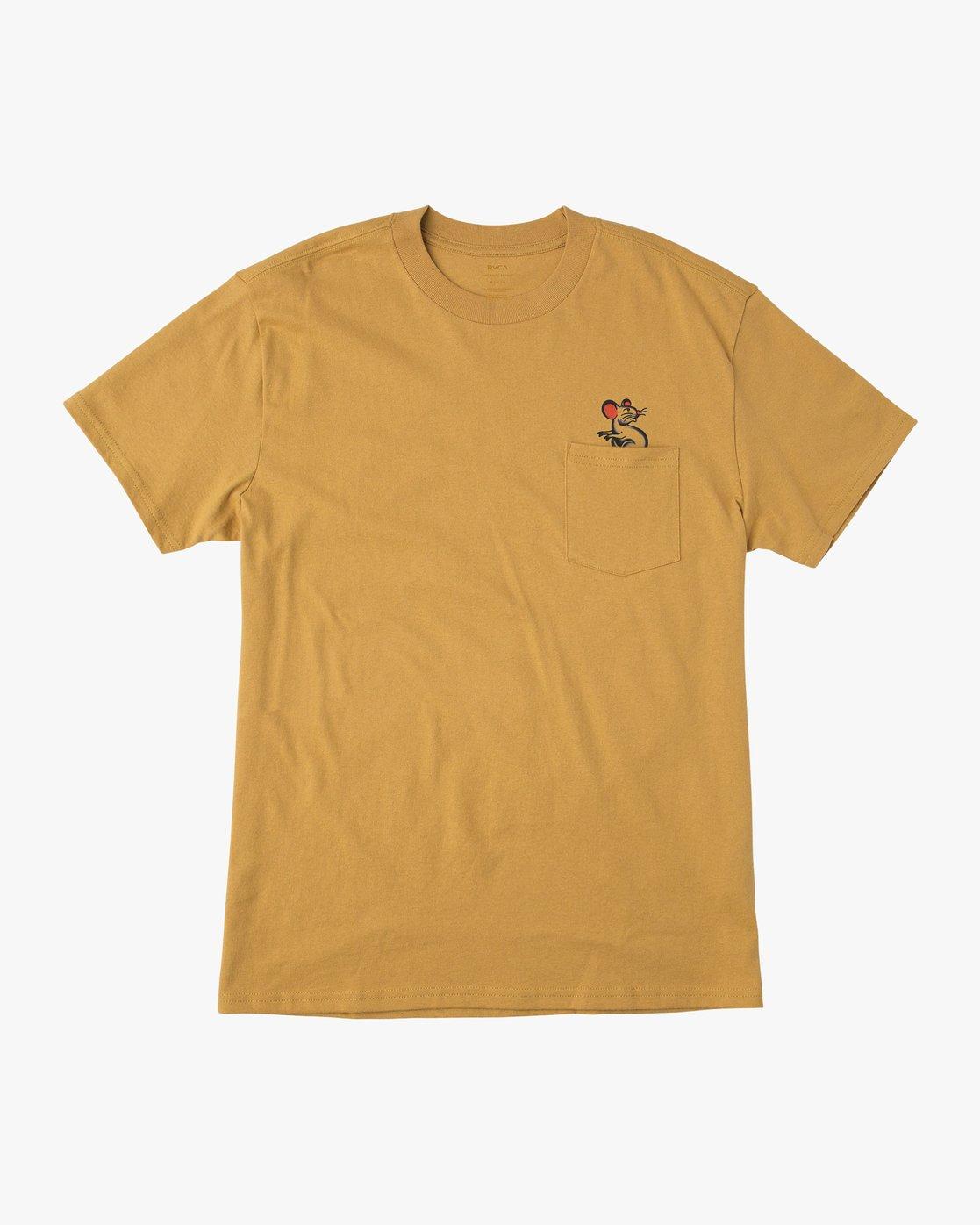 1 Bert Krak Tat Cat T-Shirt  M414QRTA RVCA