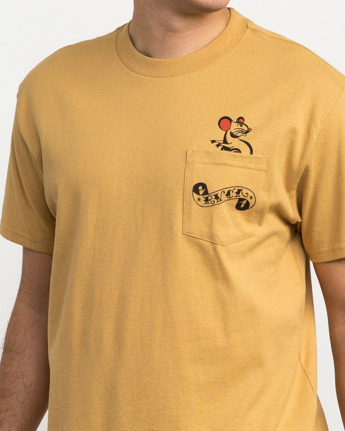 5 Bert Krak Tat Cat T-Shirt Green M414QRTA RVCA