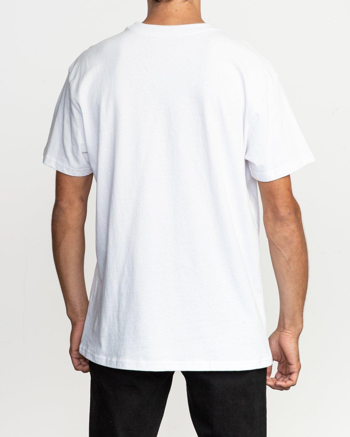 3 Toe Shift T-Shirt White M414TRTO RVCA