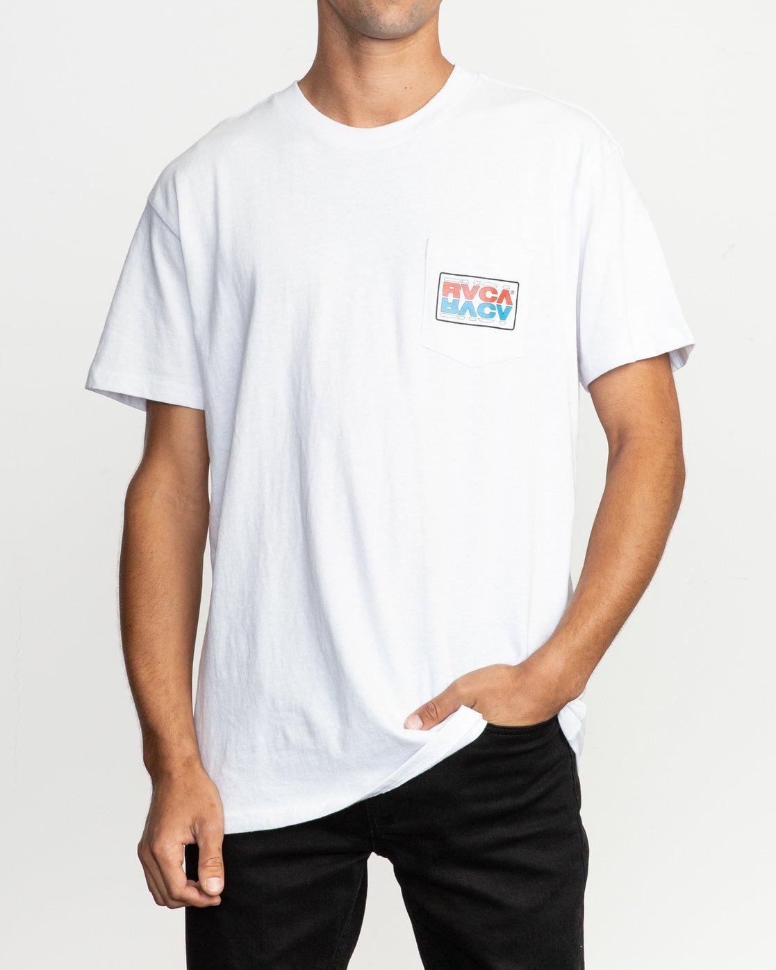 1 Toe Shift T-Shirt White M414TRTO RVCA