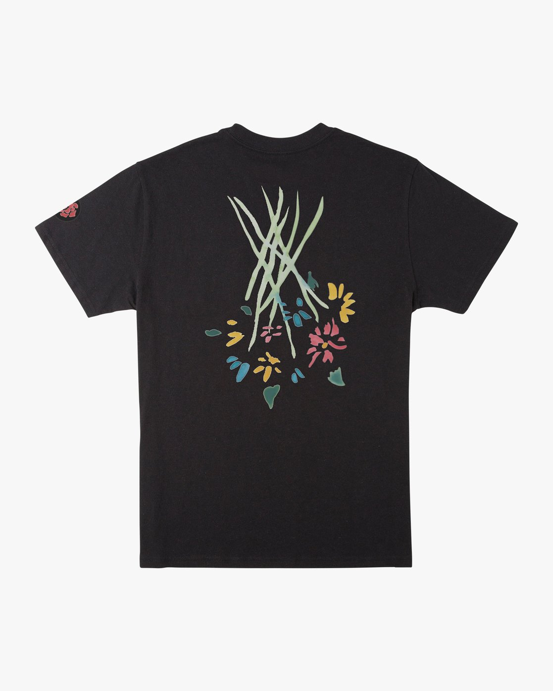 0 AR Lottie Flowers T-Shirt Black M414URLF RVCA