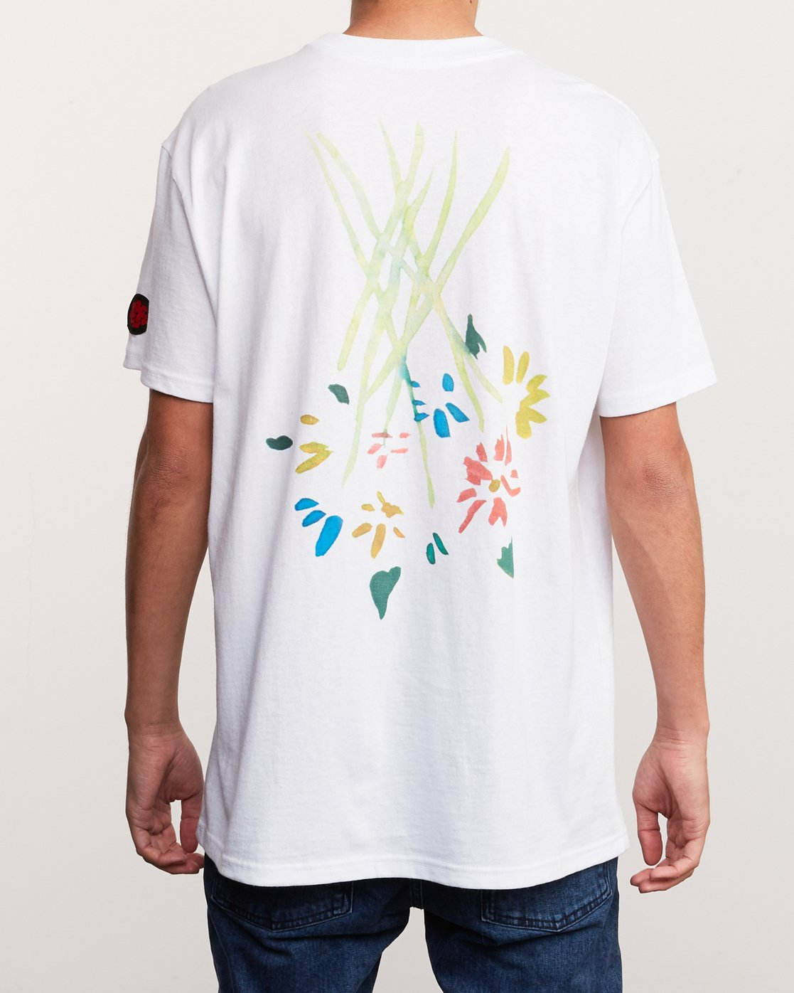 5 AR Lottie Flowers T-Shirt White M414URLF RVCA