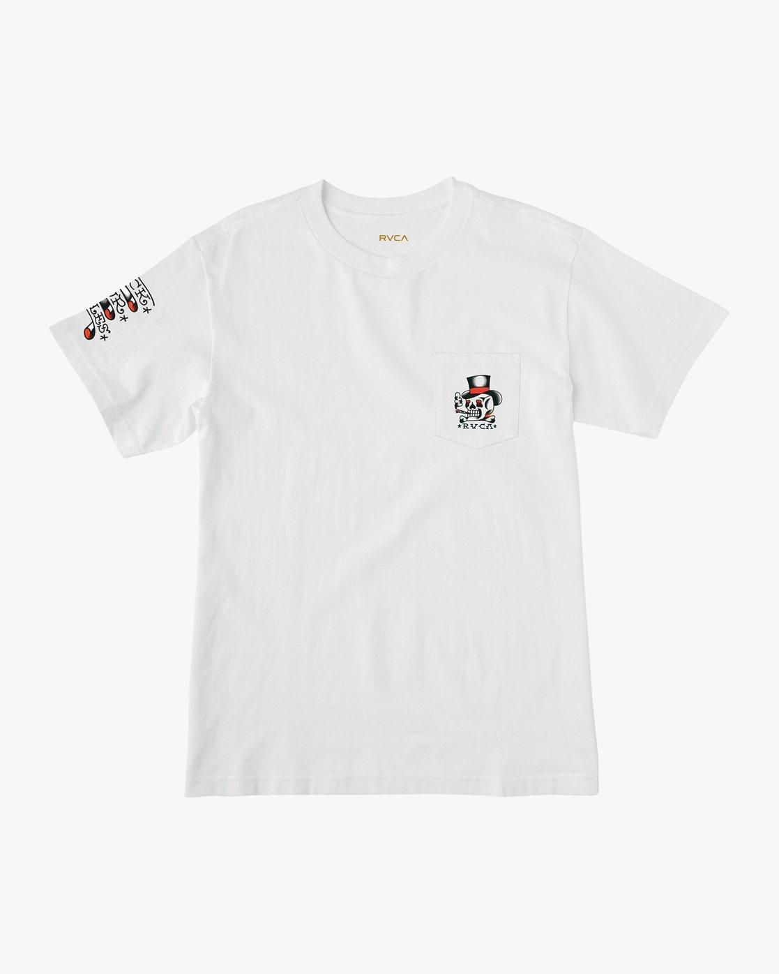 1 Bert Krak Pick Your Battles T-Shirt White M414URPI RVCA