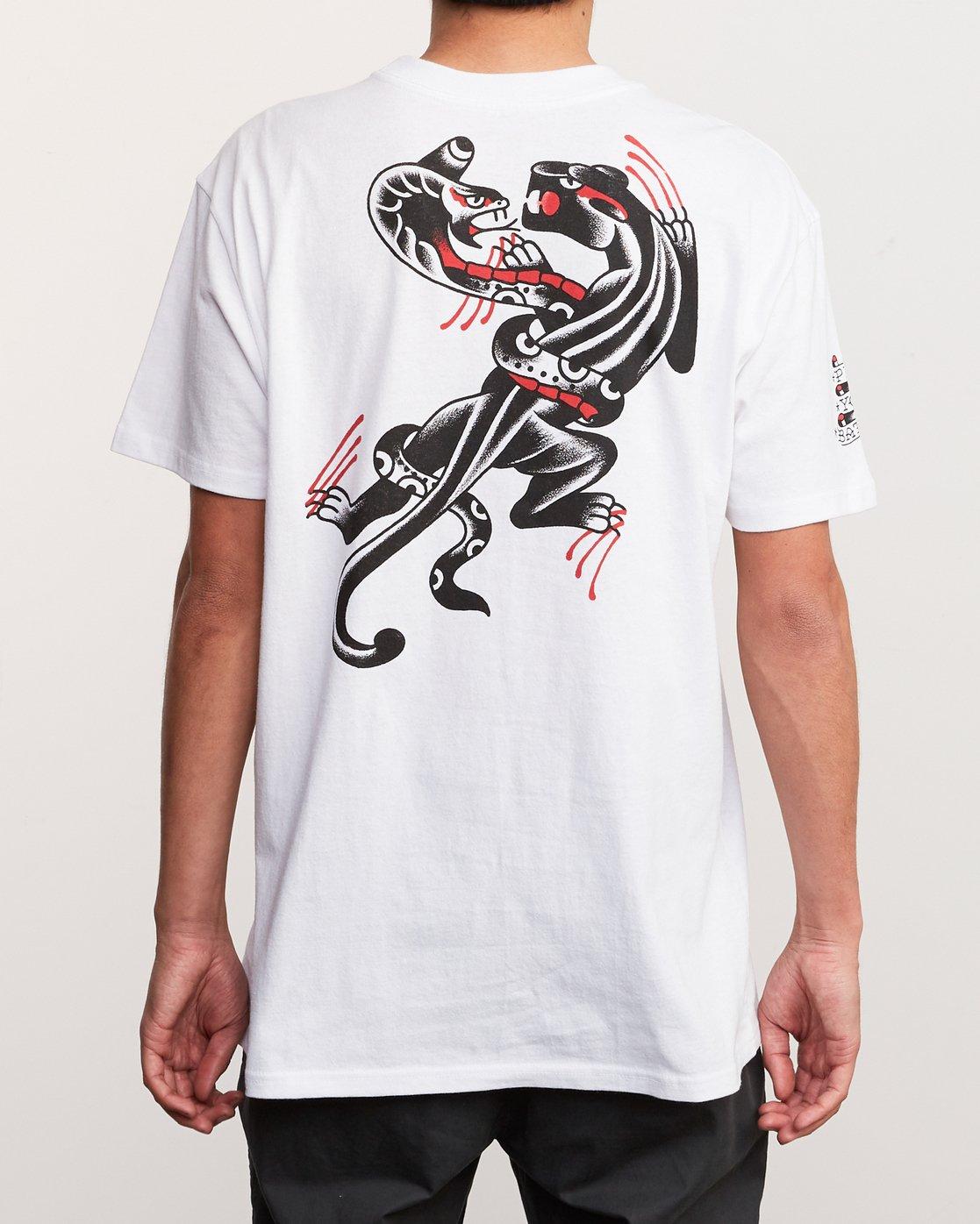 4 Bert Krak Pick Your Battles T-Shirt White M414URPI RVCA
