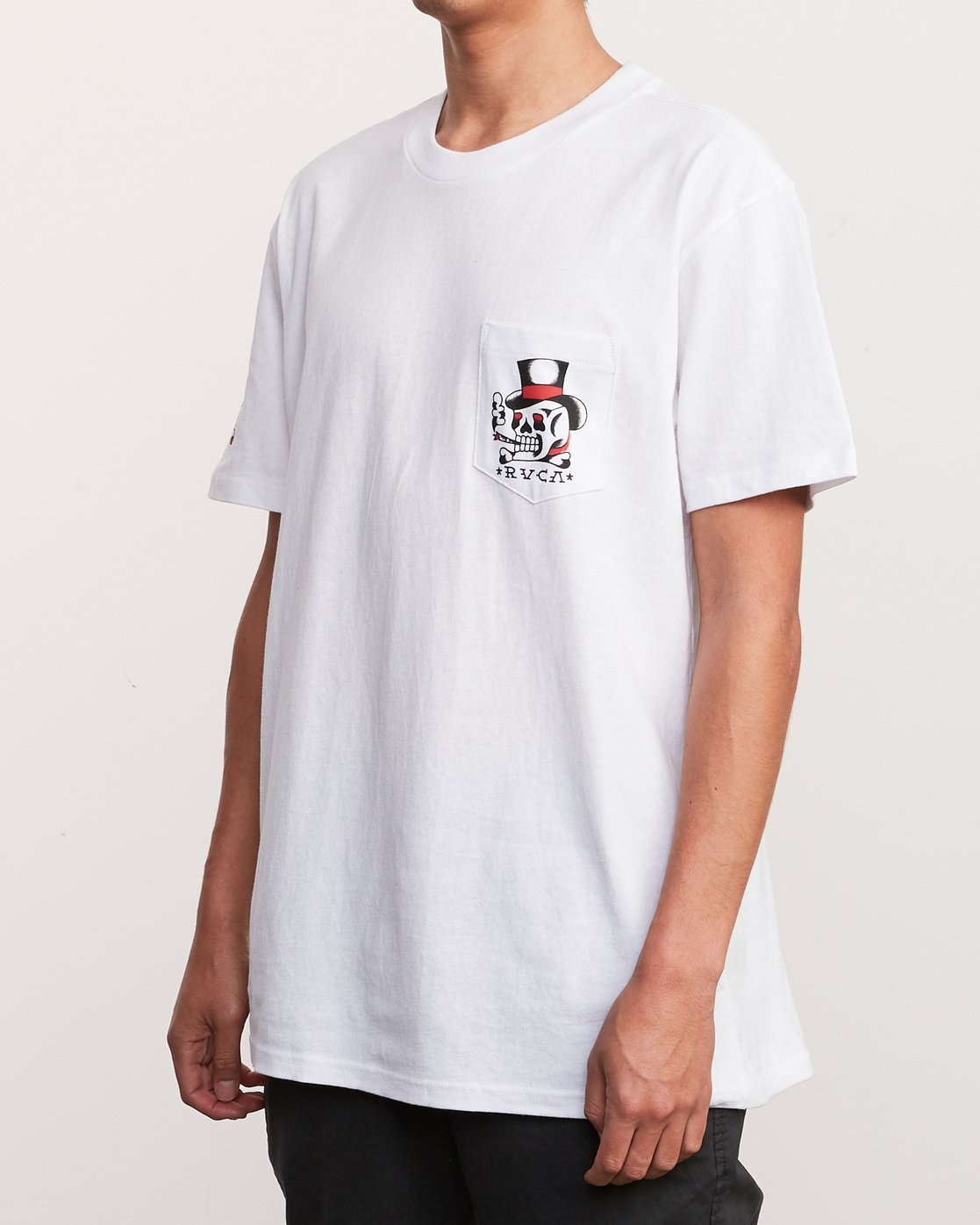 3 Bert Krak Pick Your Battles T-Shirt White M414URPI RVCA